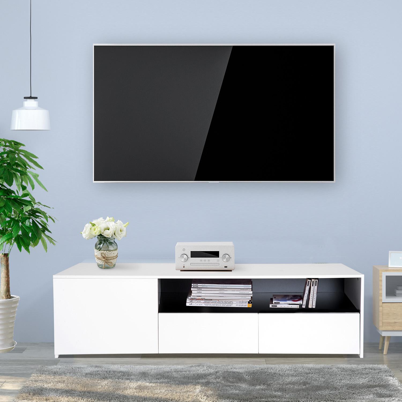 63 Modern Tv Stand Media Entertainment Center Storage Cabinet W