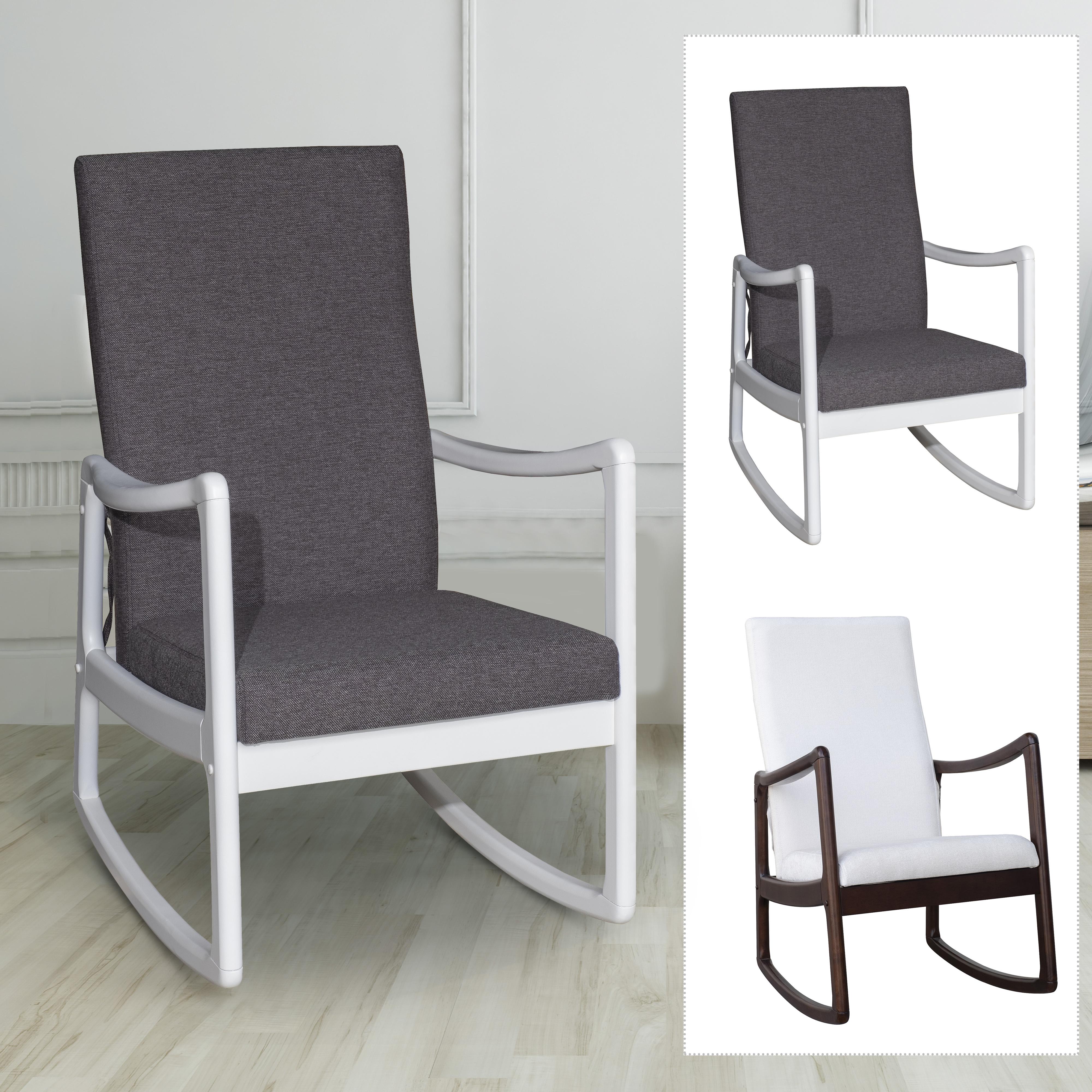 Remarkable Details About Modern Wood Rocking Chair Indoor Porch Furniture Padded Rocker Living Room Seat Ibusinesslaw Wood Chair Design Ideas Ibusinesslaworg