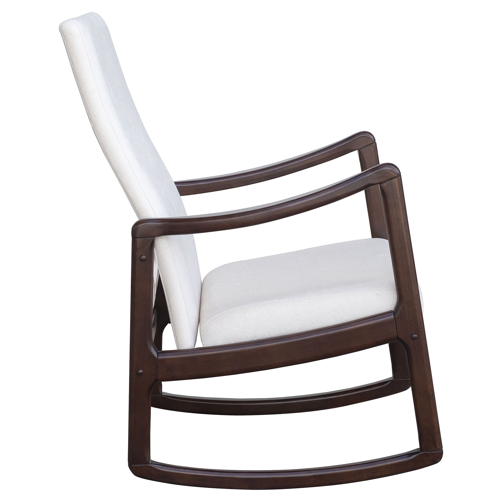 Details About Modern Wood Rocking Chair Indoor Porch Furniture Padded  Rocker Living Room Seat