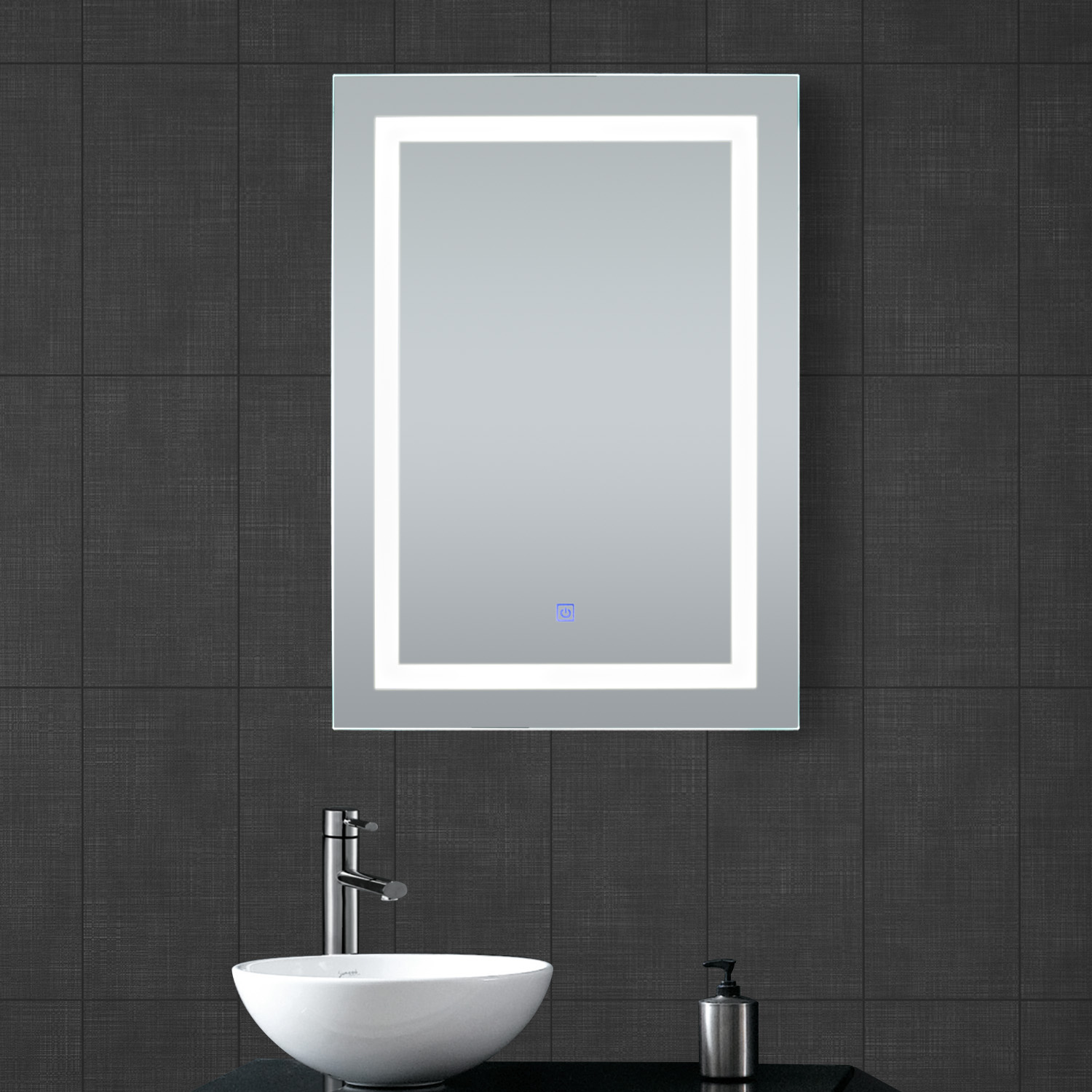 LED Illuminated Lighted Bathroom Vanity Mirror Make Up with Touch ...