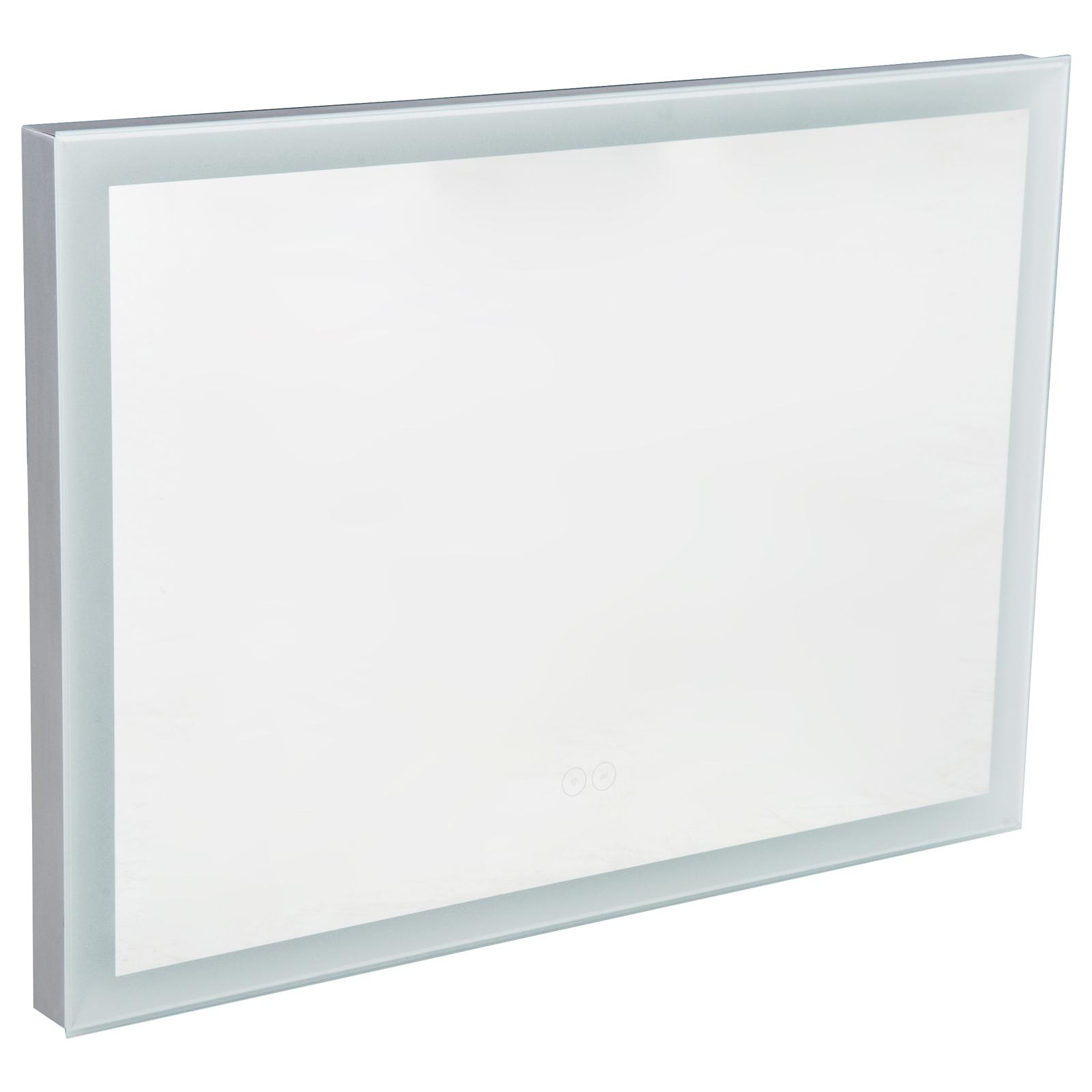 Rectangular LED Illuminated Anti-Fog Bathroom Wall Mirror Lighted ...