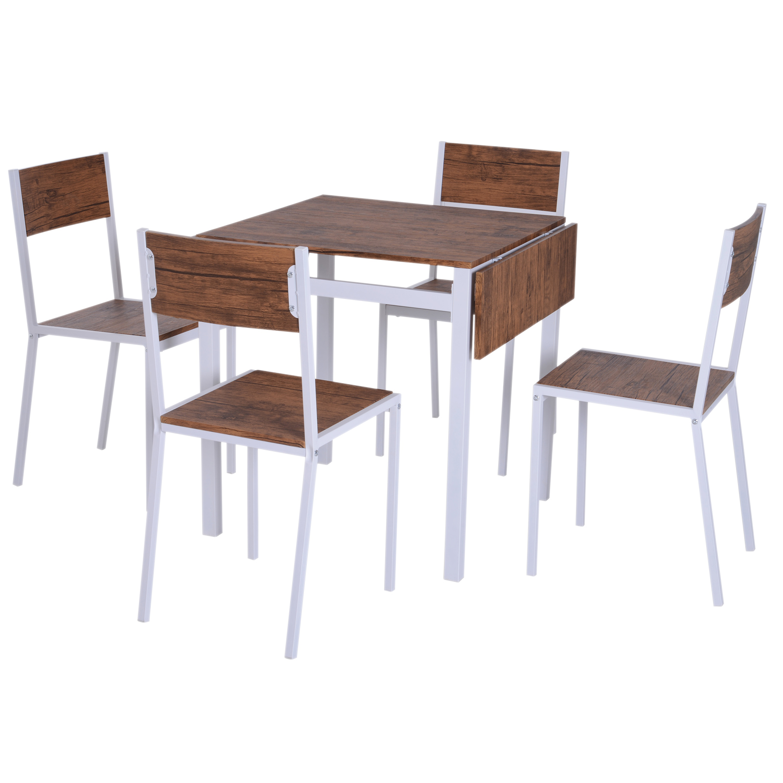 5-PC-Extending-Drop-Leaf-Counter-Height-Dining-Set-Table-amp-4-Chairs-Kitchen thumbnail 21