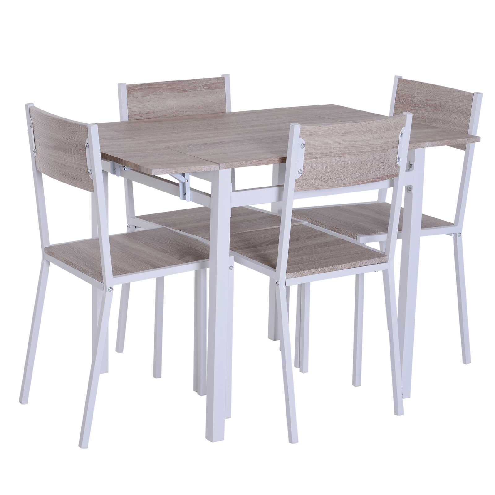5-PC-Extending-Drop-Leaf-Counter-Height-Dining-Set-Table-amp-4-Chairs-Kitchen thumbnail 5