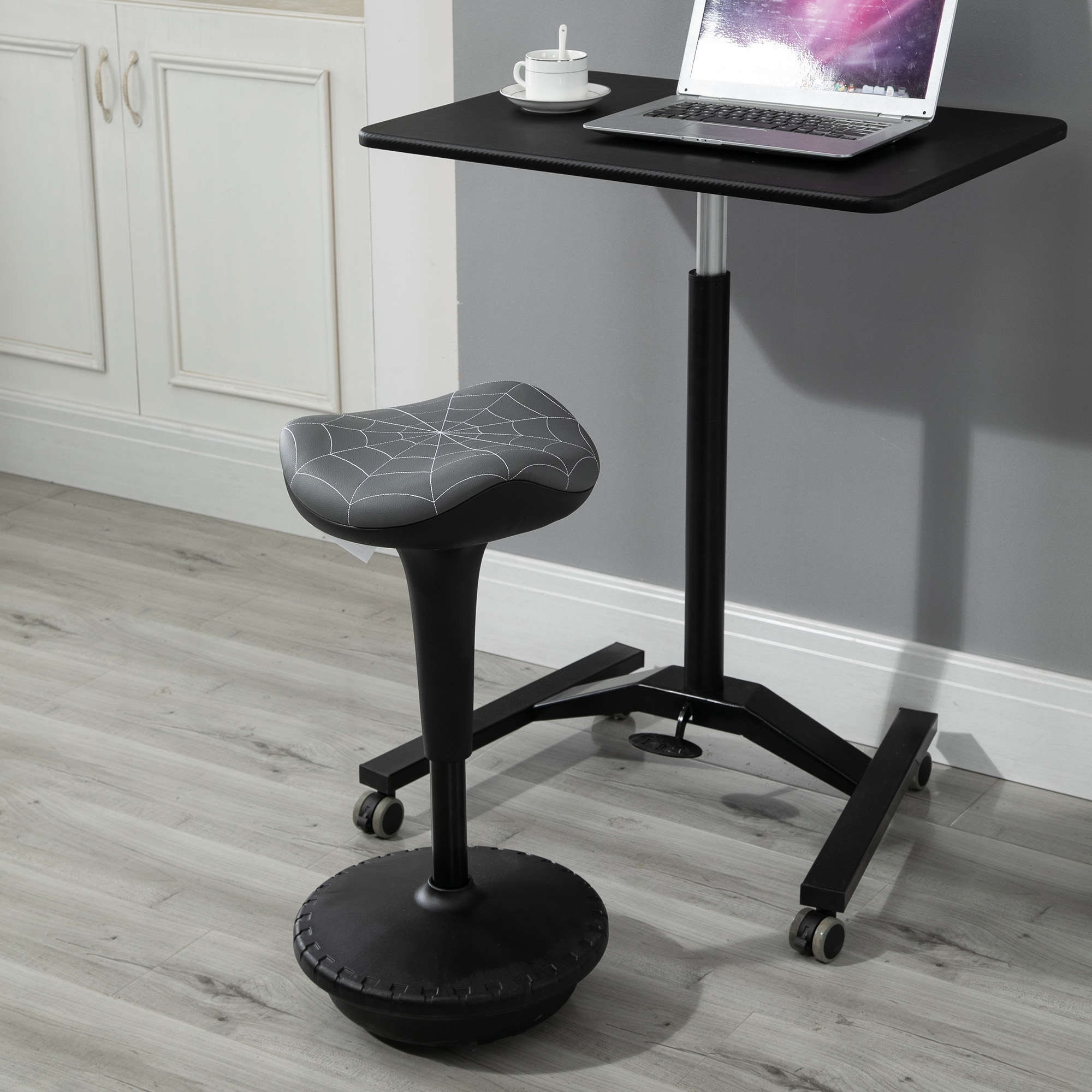 Image of: Vinsetto Lift Wobble Stool Standing Desk Chair With A 360 Swivel Tilt Grey 842525199049 Ebay