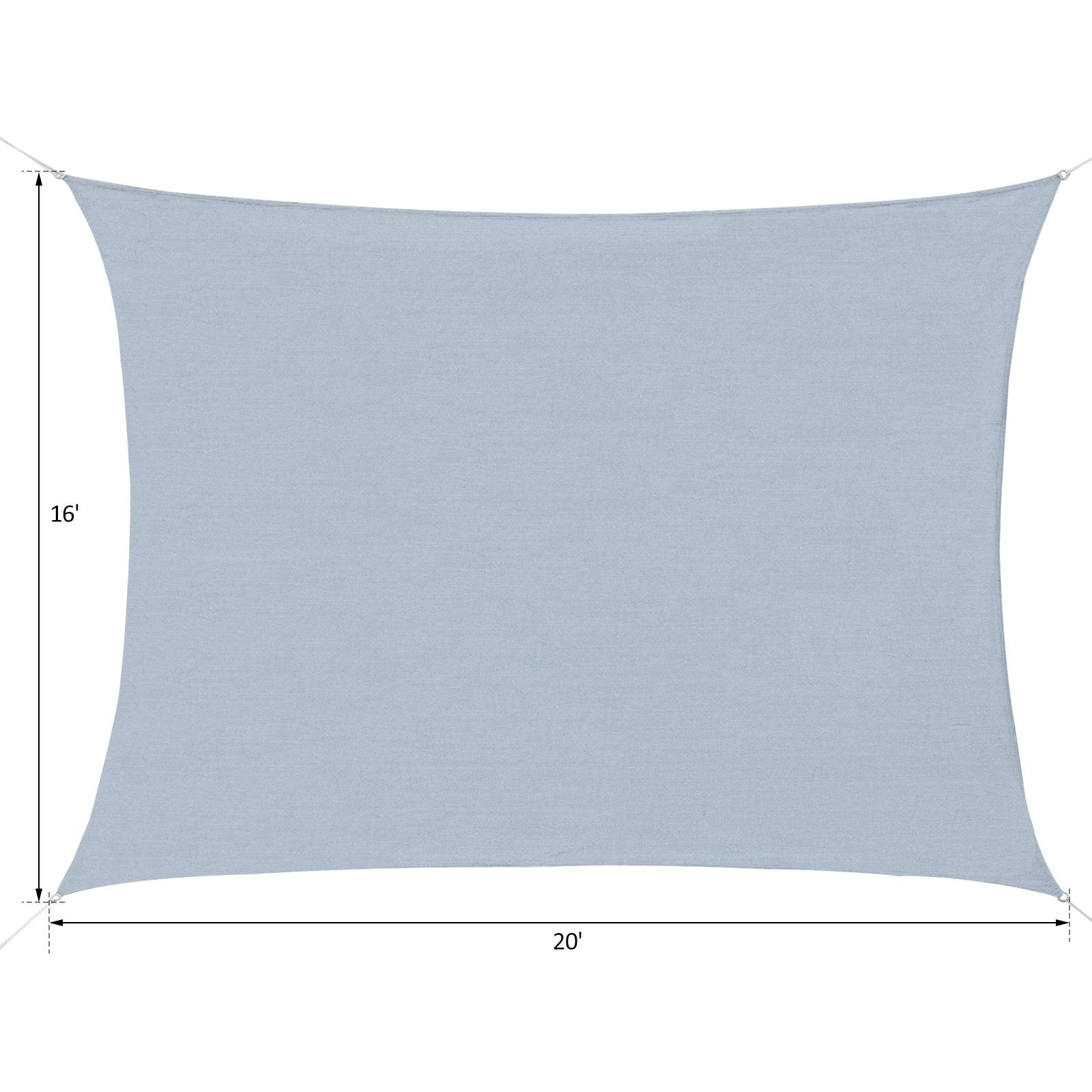 Sun-Shade-Sail-UV-Top-Cover-Outdoor-Canopy-Patio-Triangle-Square-Rectangle-w-Bag thumbnail 4