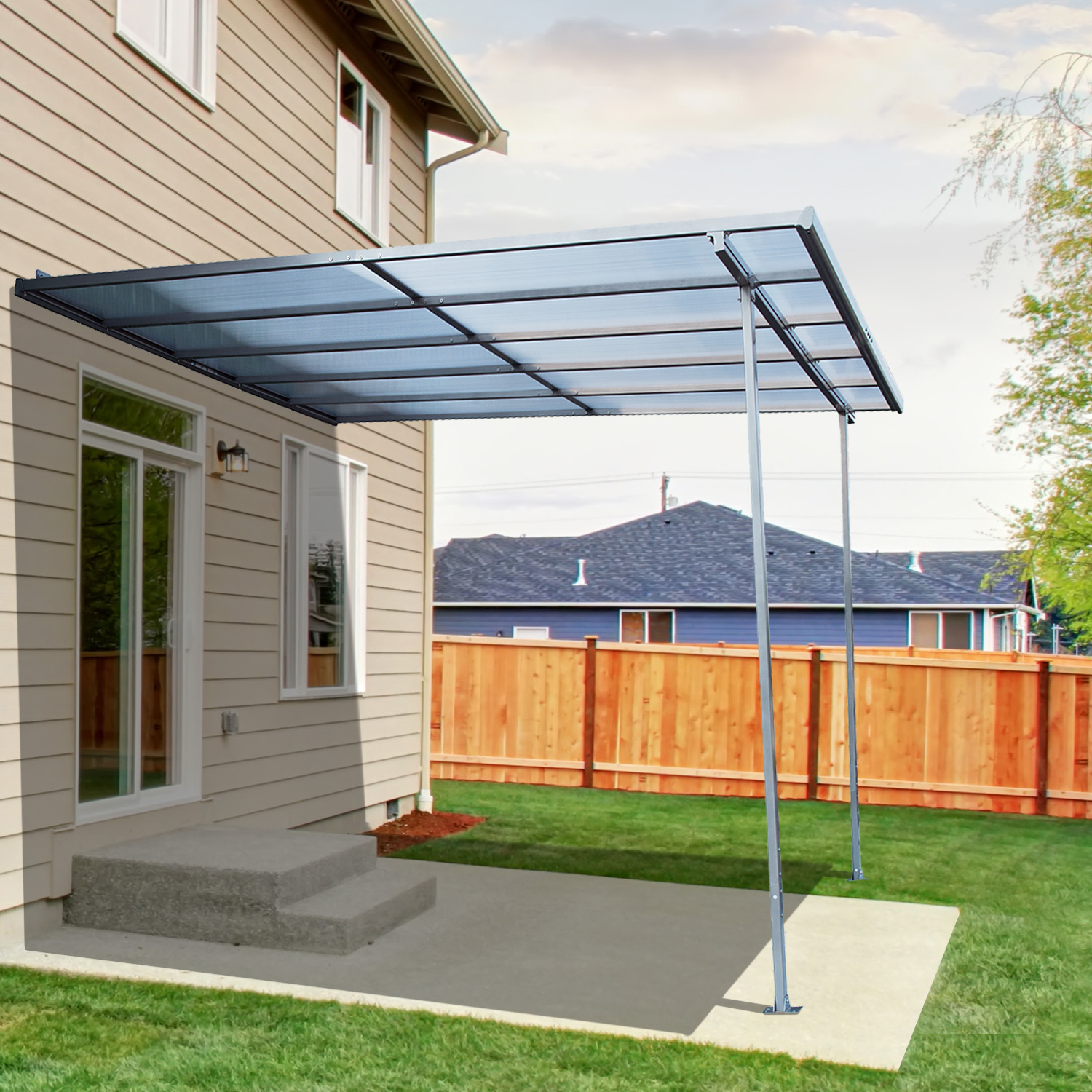 sun overstock home shipping garden today awning free patio shade outsunny manual product retractable