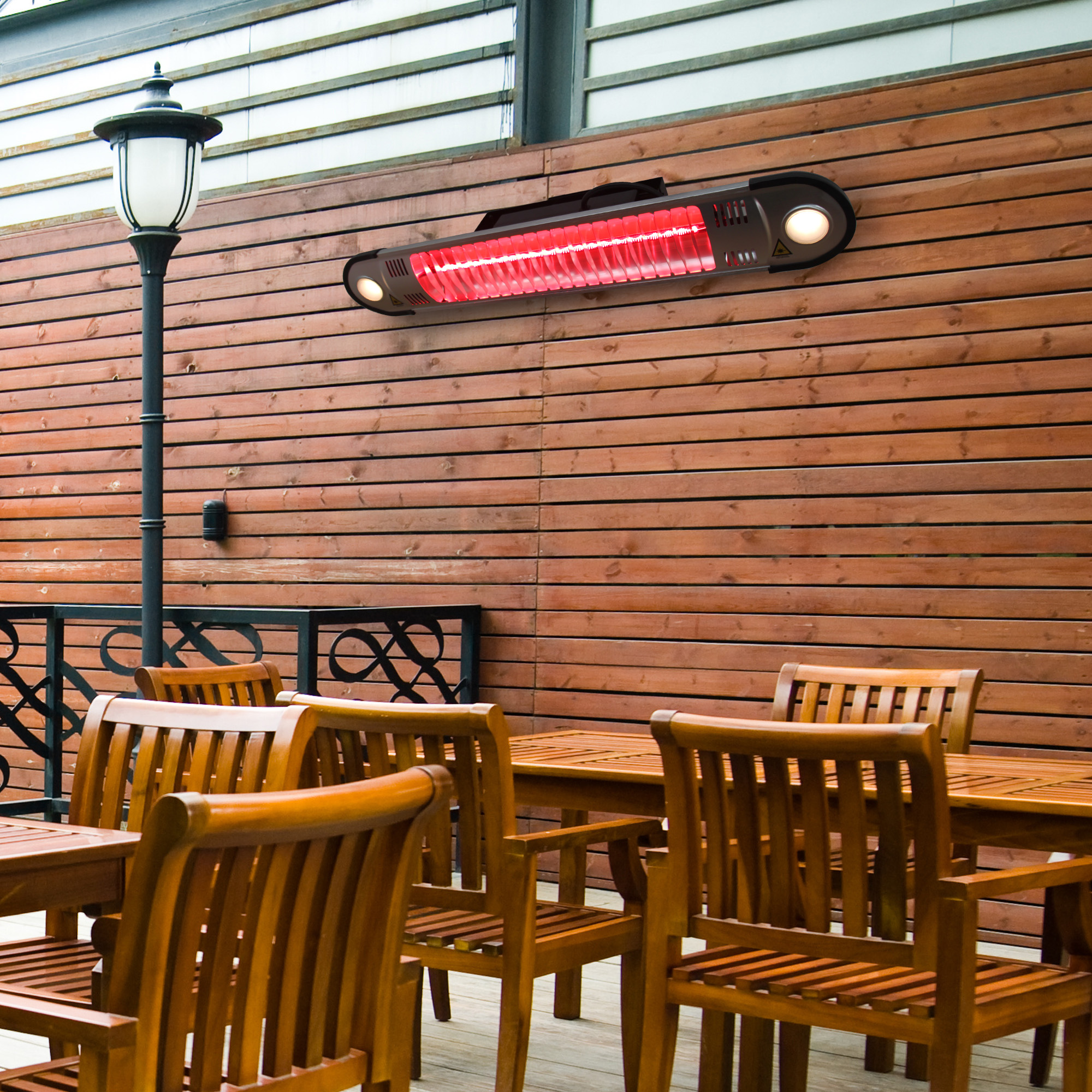 Superbe Outsunny 1500 Watt Indoor Outdoor Wall Mount Electric Patio Heater With  Remote