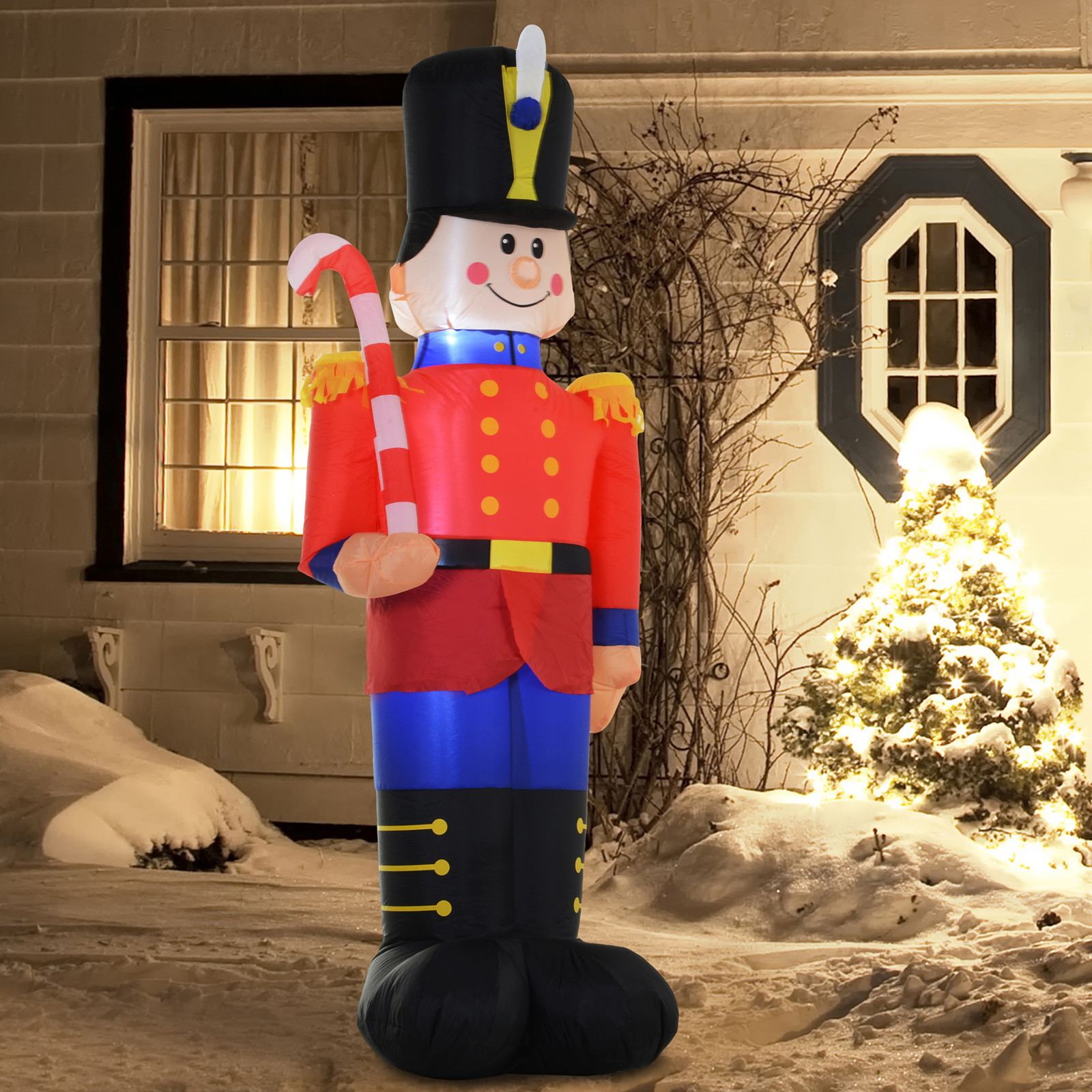 Outdoor Toy Soldier Christmas Decorations.Details About 6 Toy Soldier Nutcracker Christmas Lawn Inflatable Outdoor Decoration