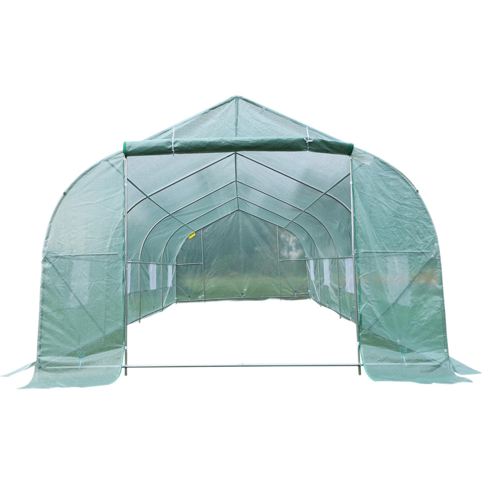 20'x10'x7' Walk-In GREEN HOUSE Plant Gardening Greenhouse Steel Portable Oudoor 8