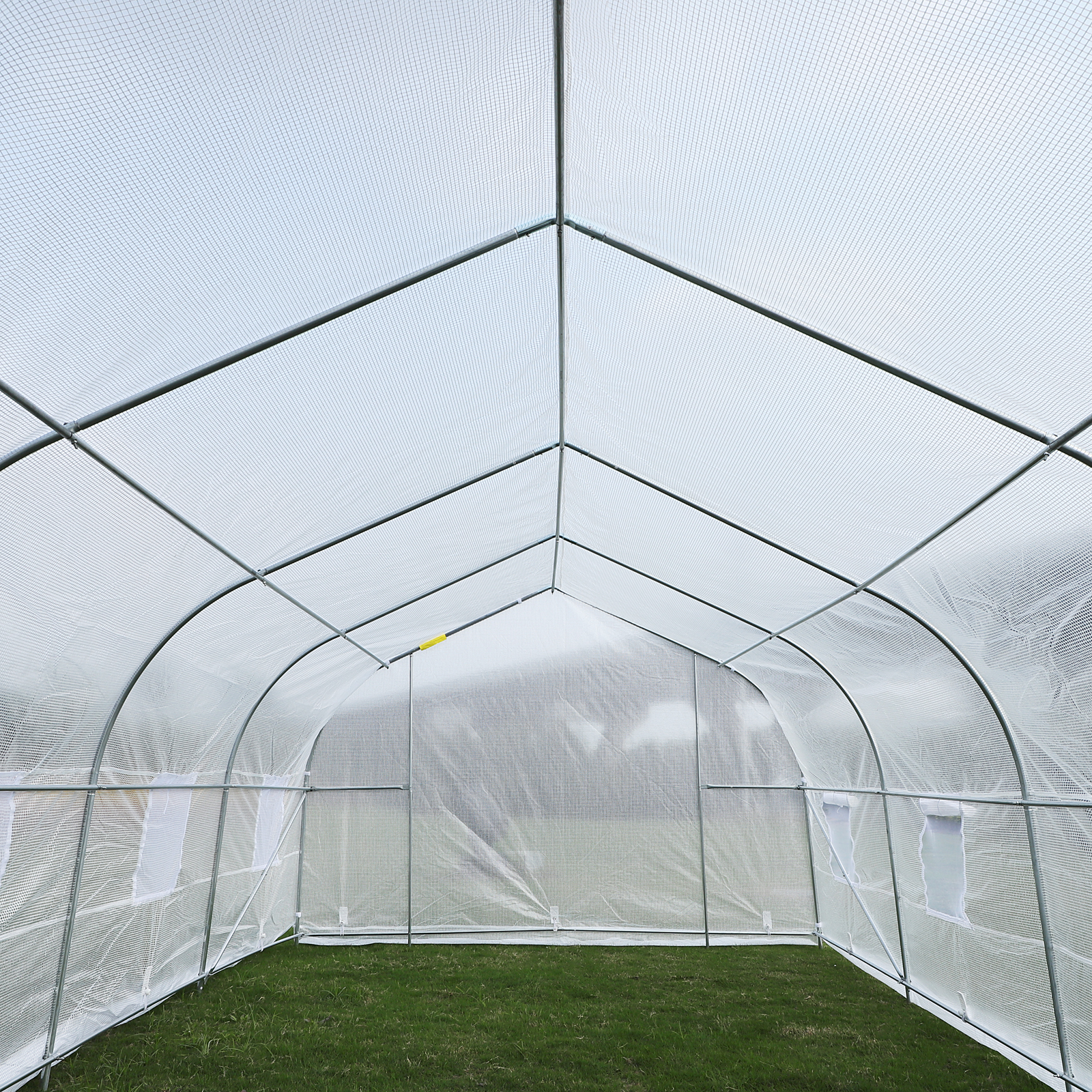 Outsunny-20x10x7ft-Walk-in-Outdoor-Tunnel-Greenhouse-Portable-Backyard-Plant thumbnail 21