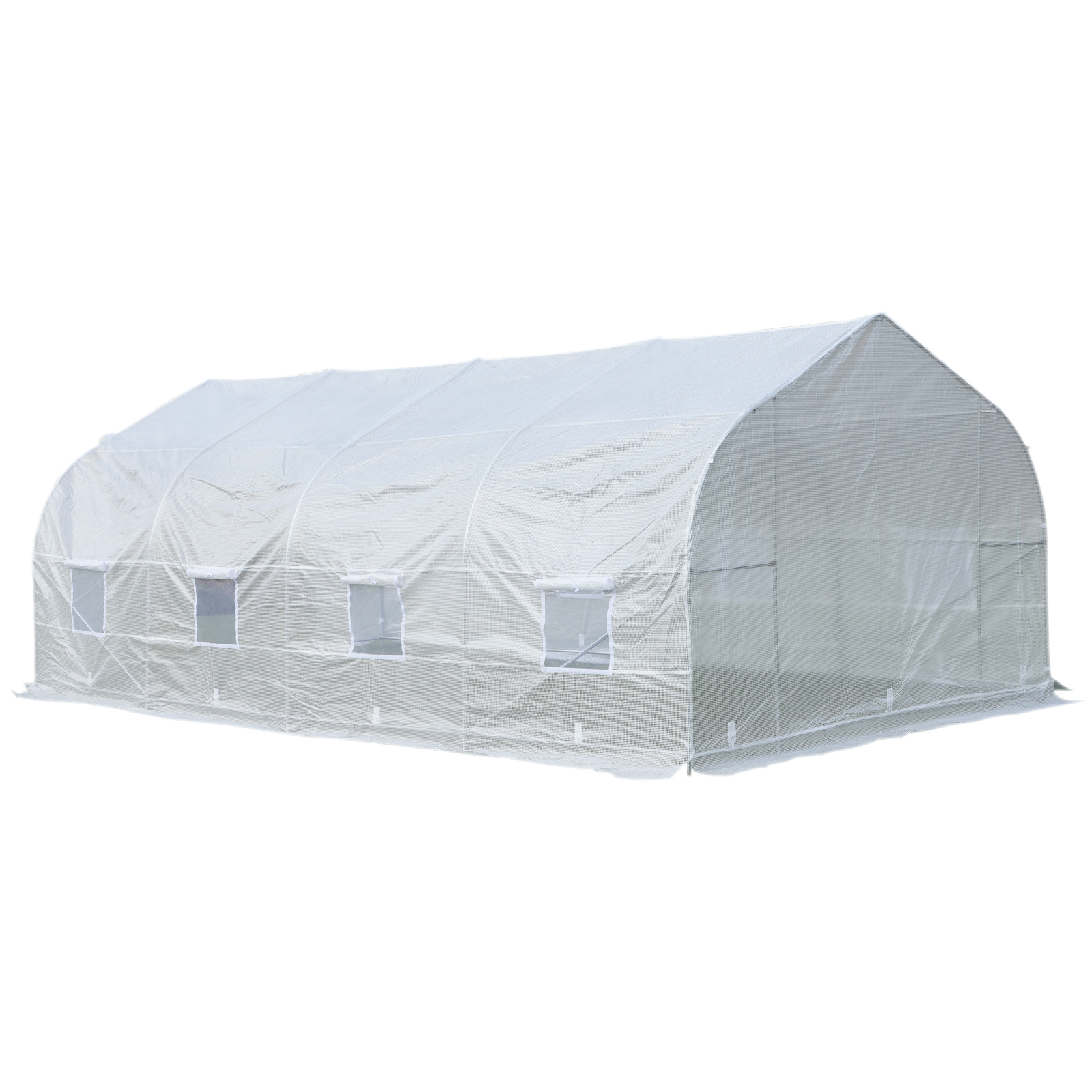 Outsunny-20x10x7ft-Walk-in-Outdoor-Tunnel-Greenhouse-Portable-Backyard-Plant thumbnail 19