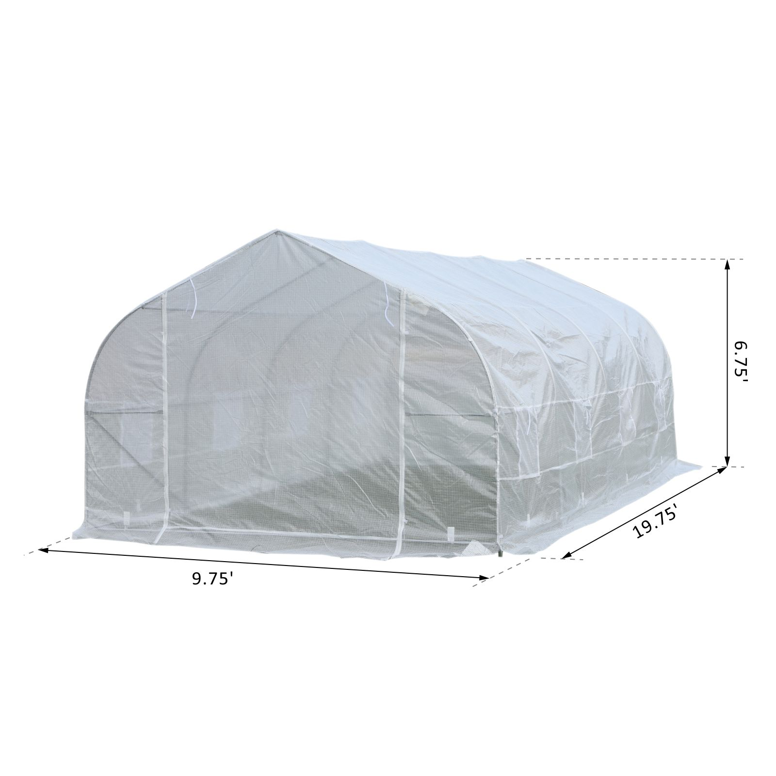 Outsunny-20x10x7ft-Walk-in-Outdoor-Tunnel-Greenhouse-Portable-Backyard-Plant thumbnail 13