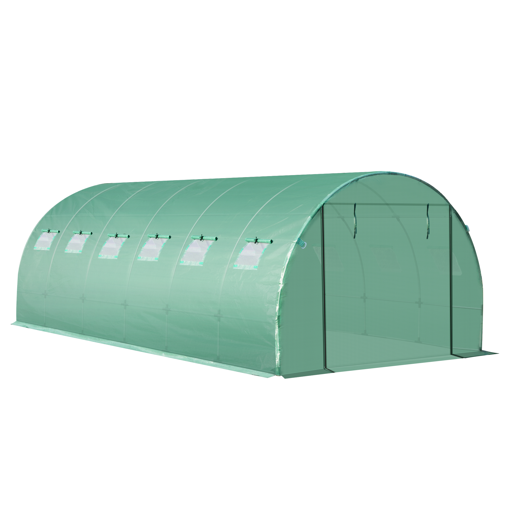 Indexbild 23 - Greenhouse-Replacement-Cover-ONLY-for-Tunnel-Walk-in-Greenhouse