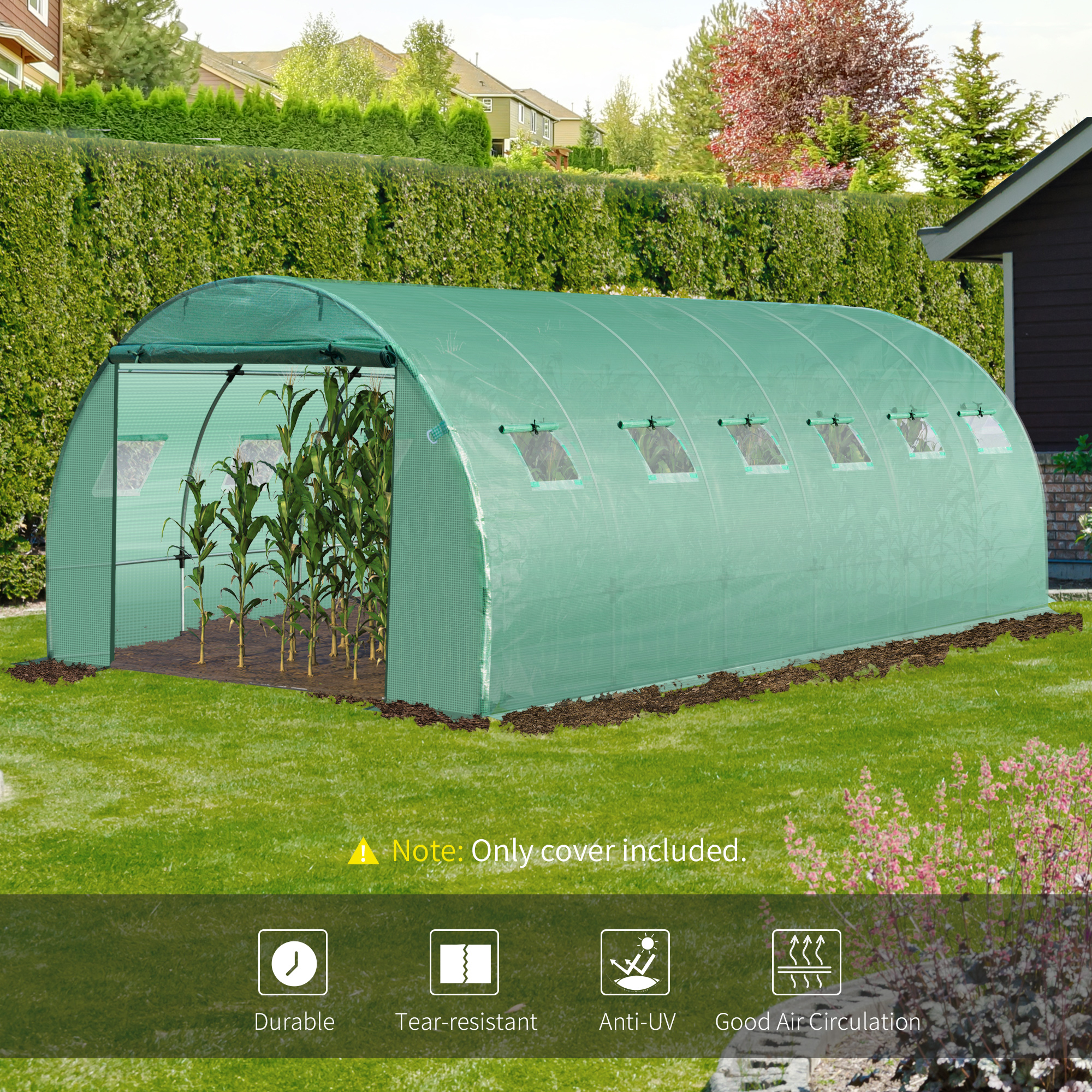 Indexbild 21 - Greenhouse-Replacement-Cover-ONLY-for-Tunnel-Walk-in-Greenhouse