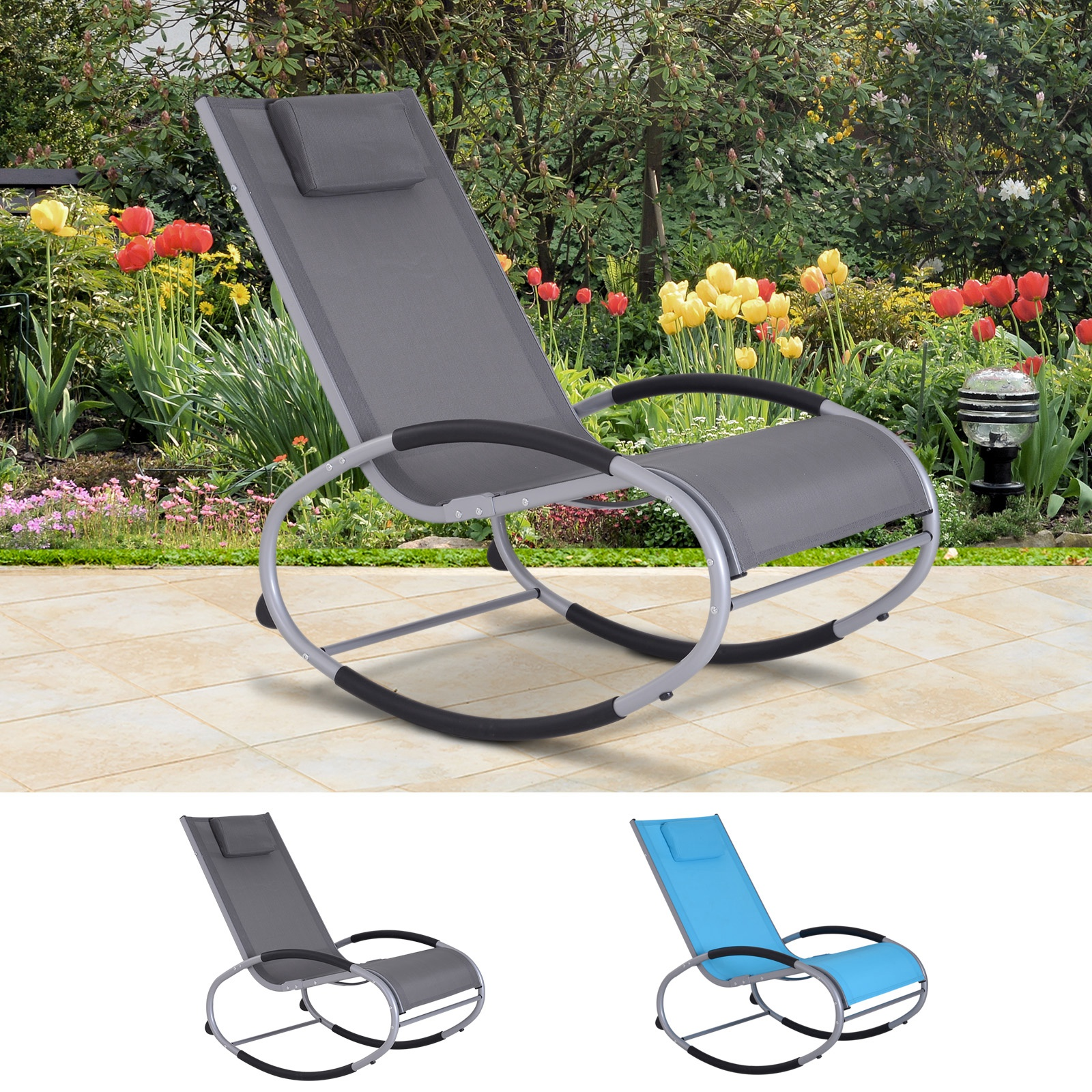 Details About Outdoor Zero Gravity Patio Furniture Lounge Sling Chair Recliner Rocker Sofa