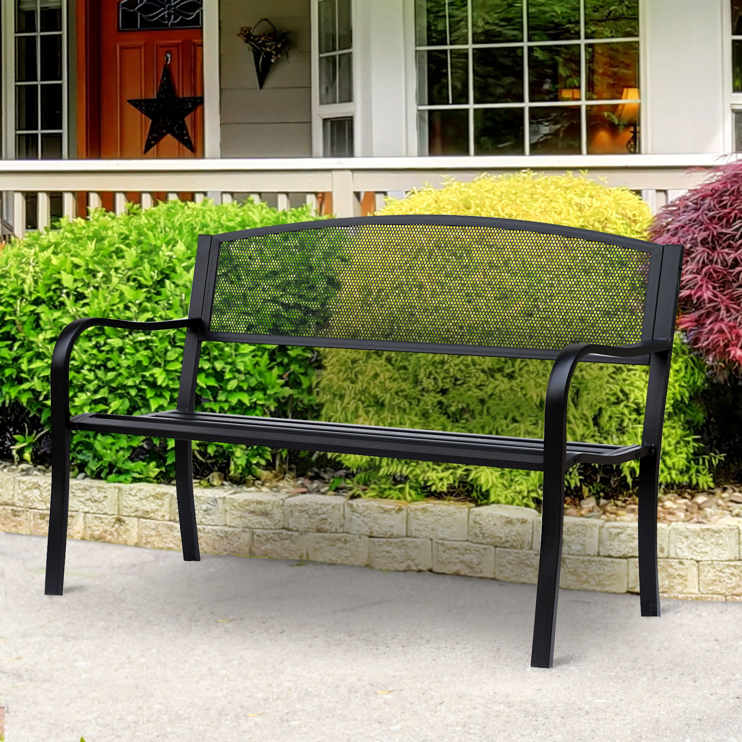 50 034 Two Person Garden Front Porch Bench