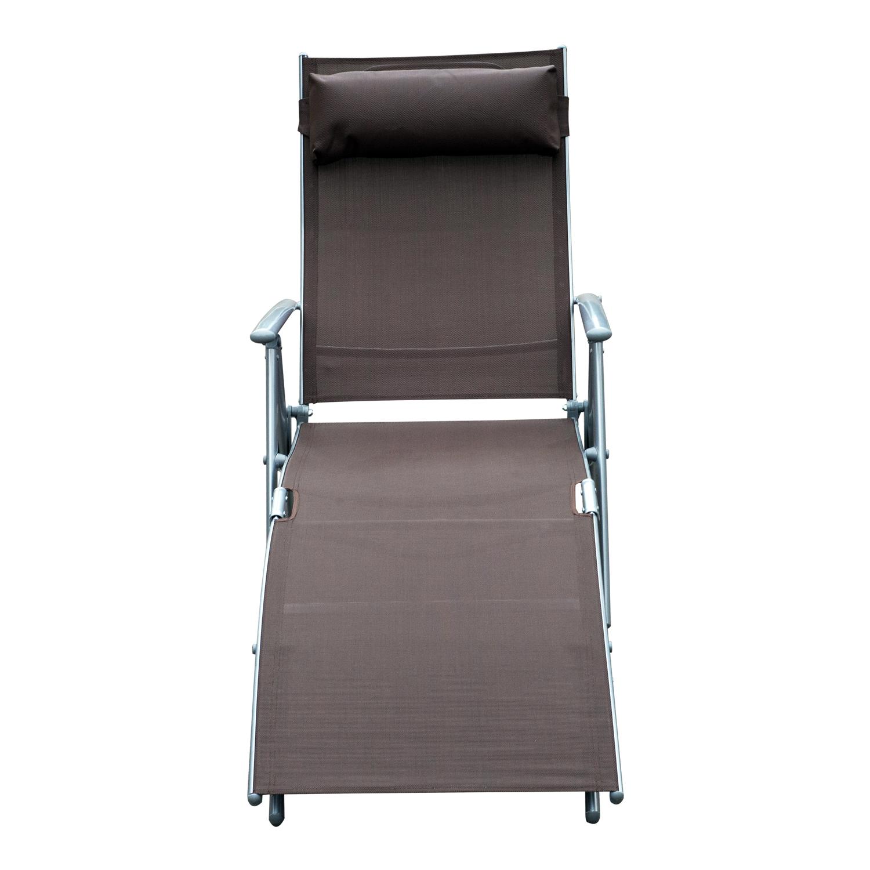 Chaise Lounge Chair Folding Pool Beach Yard Adjustable