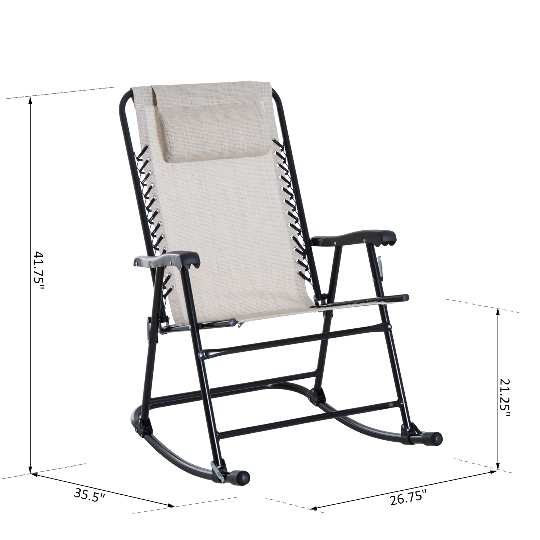 2pc Outdoor Patio Folding Rocking Chair Set Garden