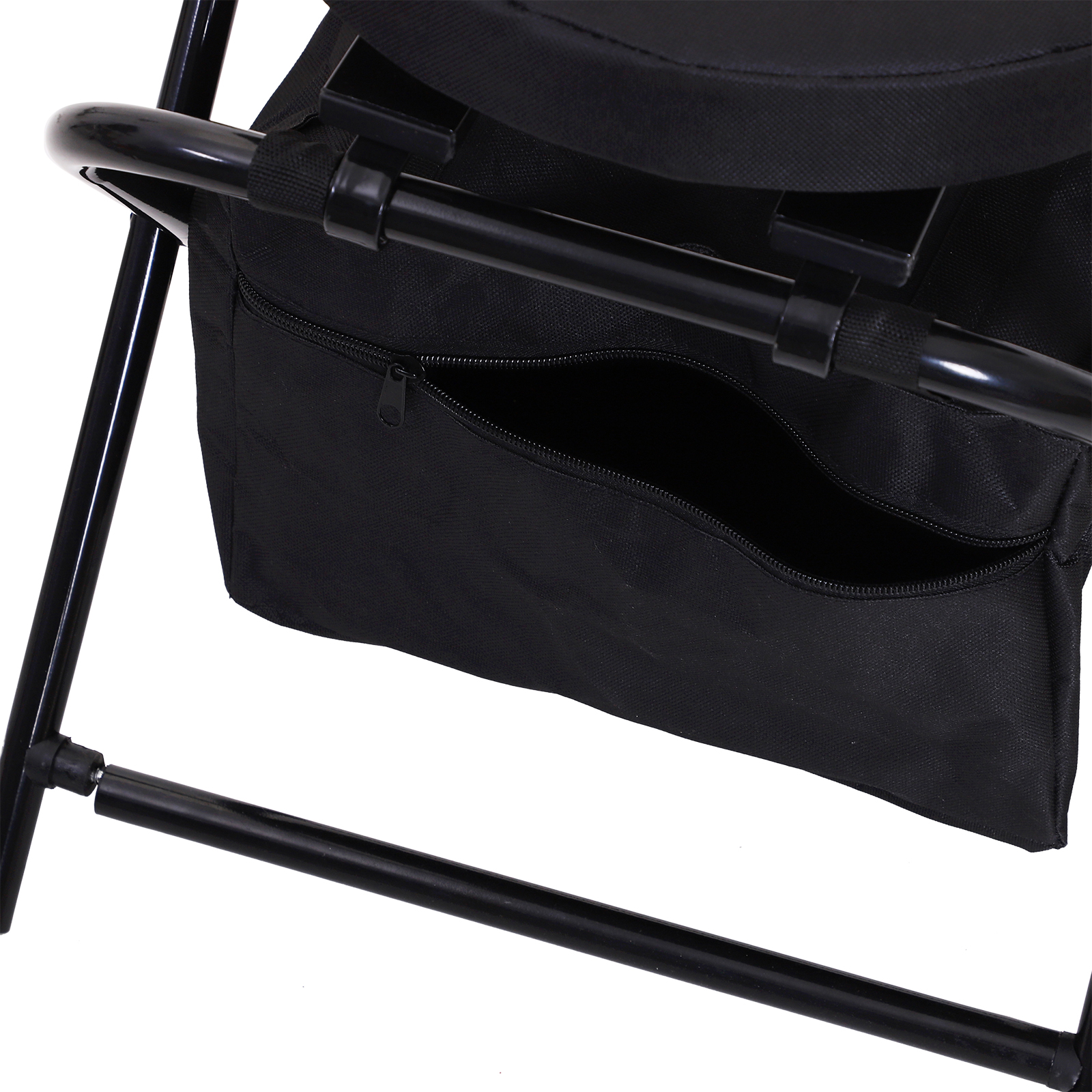 Outsunny-Folding-Rotating-Travel-Camping-Stool-for-Adults-w-Storage-Bag thumbnail 7