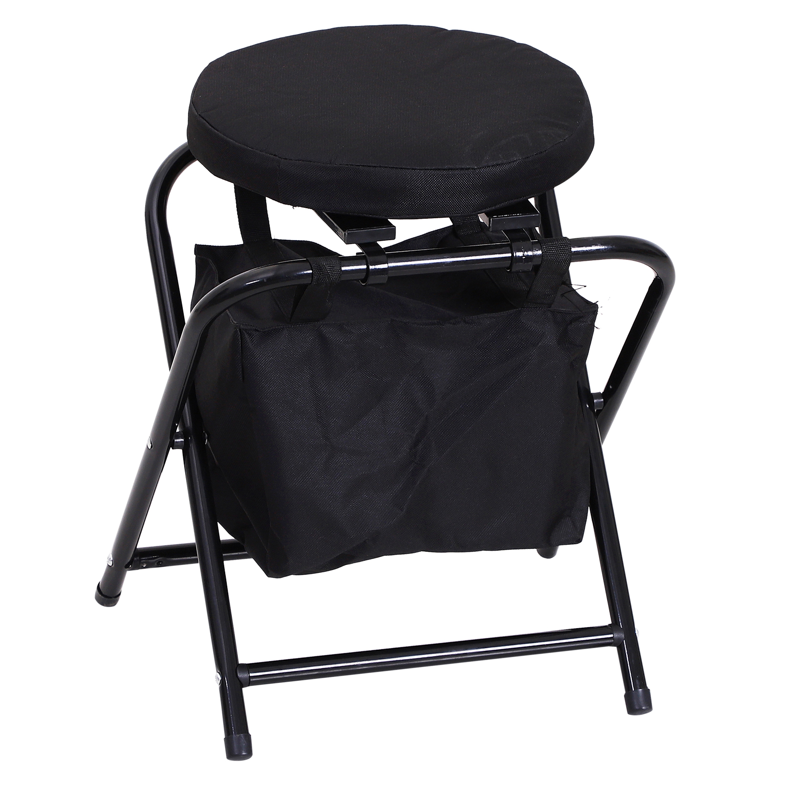 Outsunny-Folding-Rotating-Travel-Camping-Stool-for-Adults-w-Storage-Bag thumbnail 4