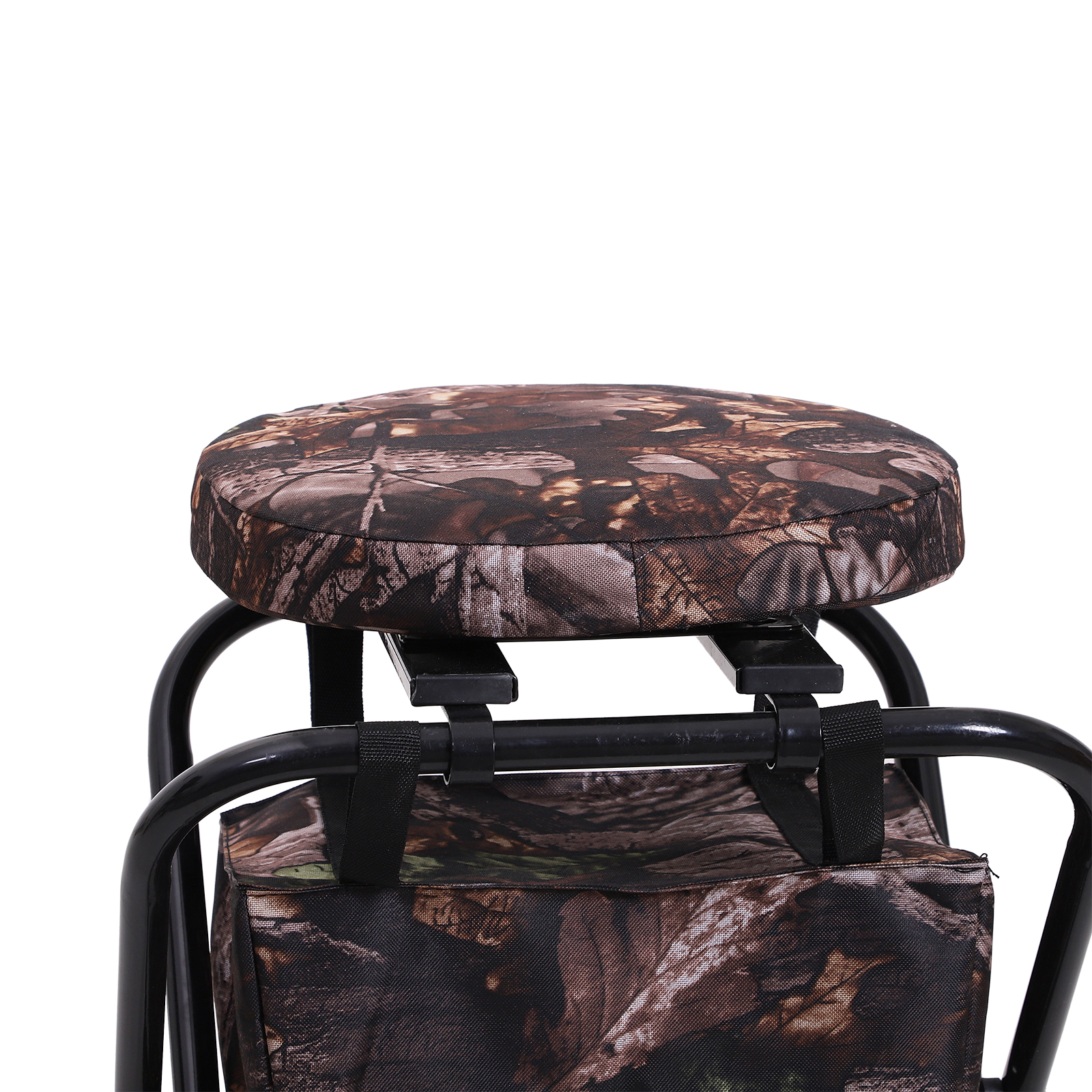 Outsunny-Folding-Rotating-Travel-Camping-Stool-for-Adults-w-Storage-Bag thumbnail 12