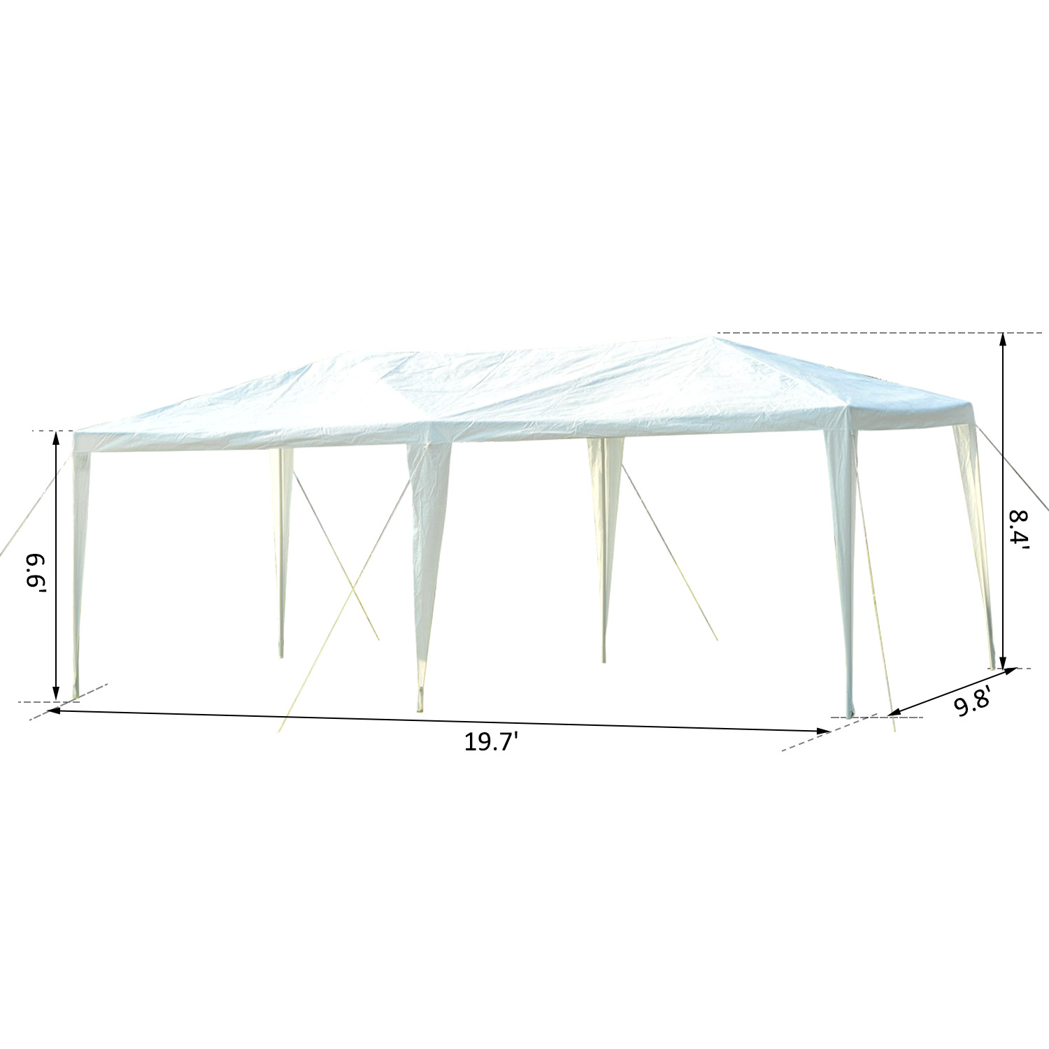 10-039-x-20-039-Gazebo-Canopy-Cover-Tent-Patio-Party-w-Removable-Mesh-Side-Walls thumbnail 12