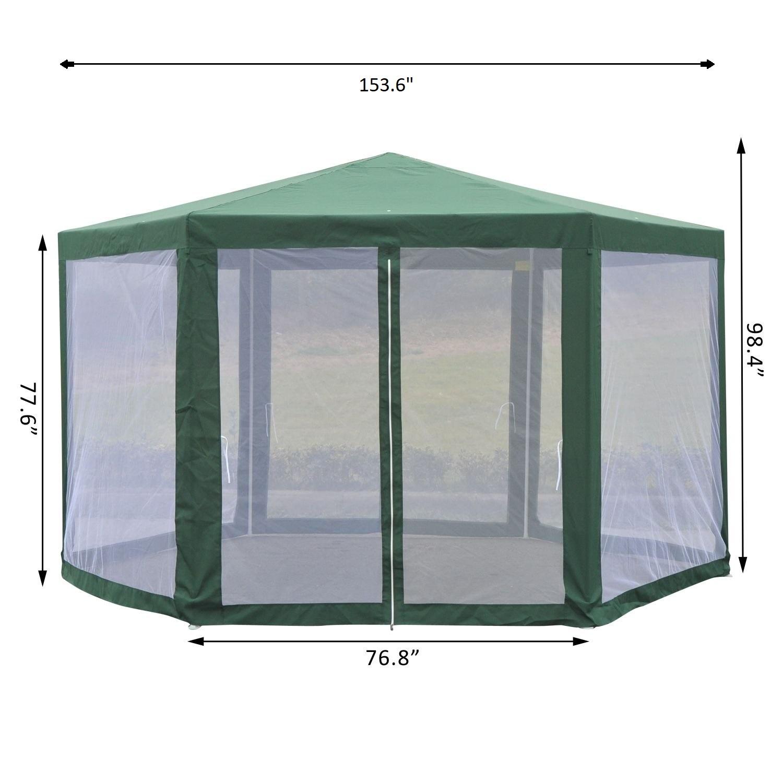 Hexagonal-Patio-Gazebo-Outdoor-Canopy-Party-Tent-Activity-Event-w-Mosquito-Net thumbnail 24