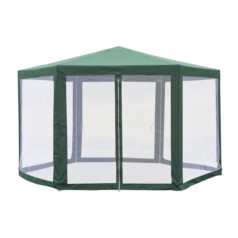 Hexagonal-Patio-Gazebo-Outdoor-Canopy-Party-Tent-Activity-Event-w-Mosquito-Net thumbnail 26