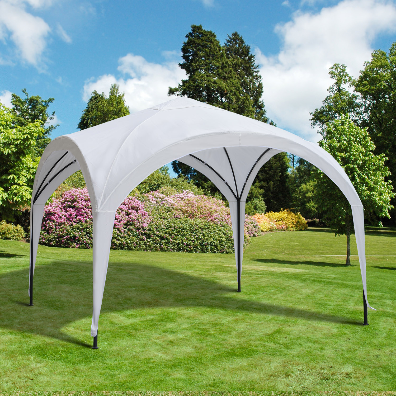 Outsunny 10x10-Foot Portable Dome Canopy (White)