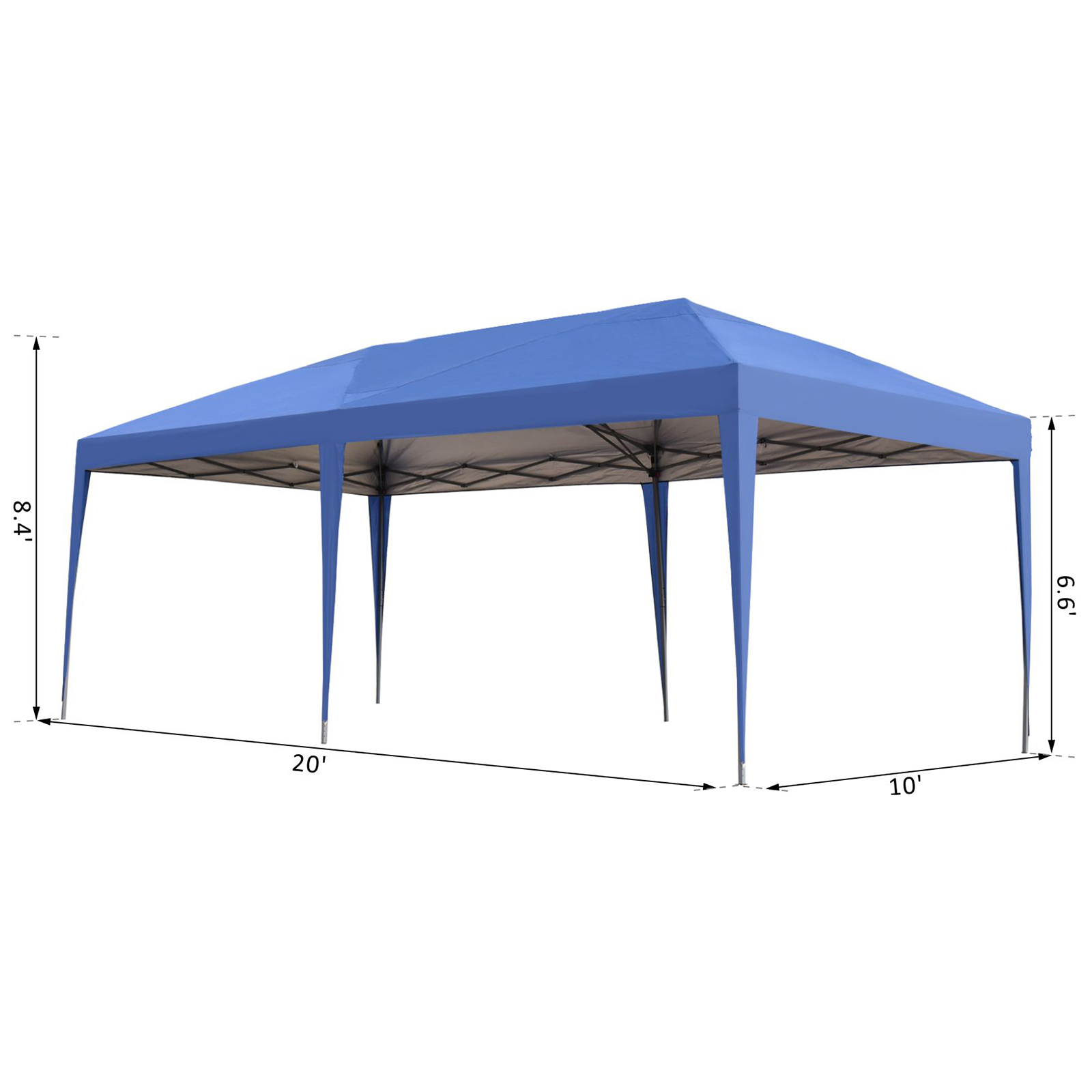 10-x-20-Outdoor-Gazebo-Pop-Up-Canopy-Party-Tent-with-2-Tier-Roof thumbnail 3