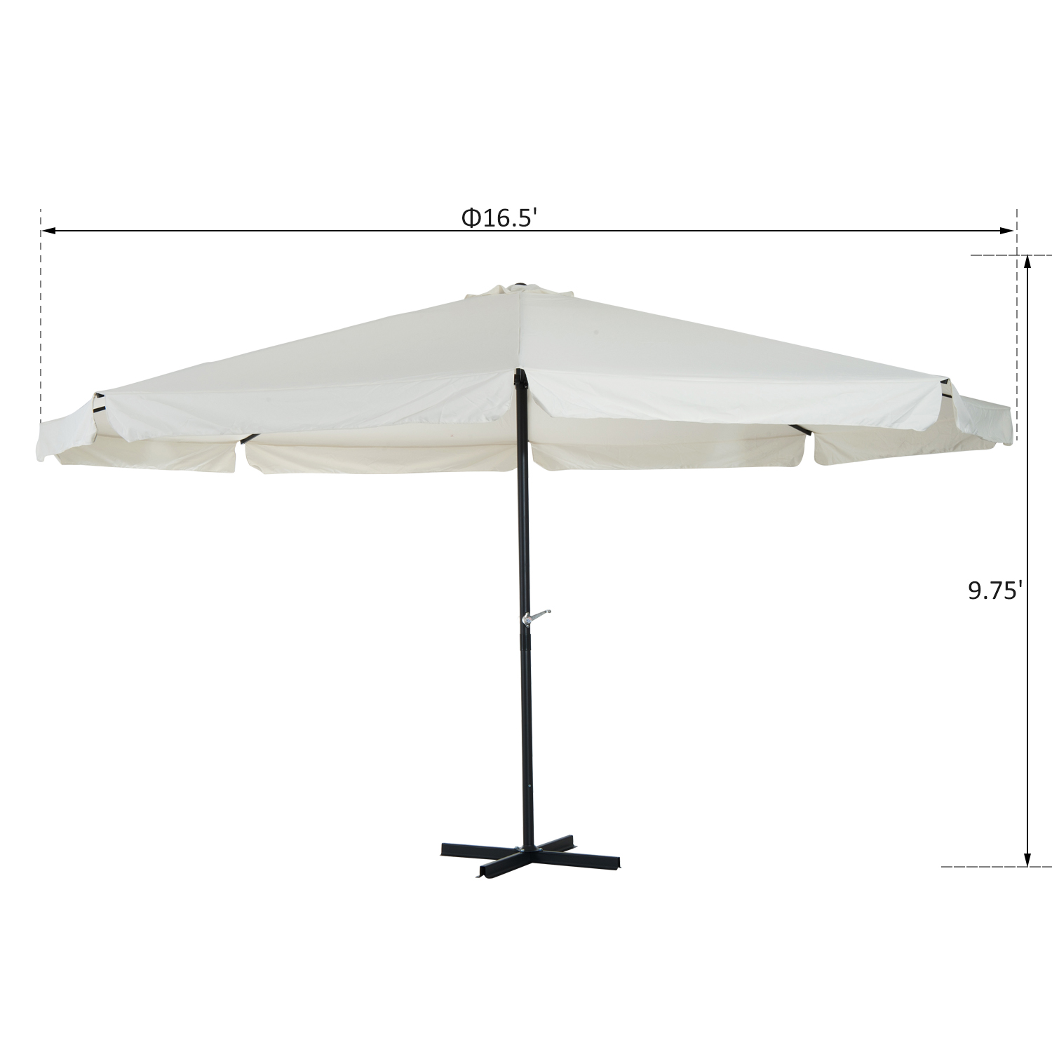 Ordinaire 16Ft Large Size Patio Umbrella Outdoor Market Sunshade
