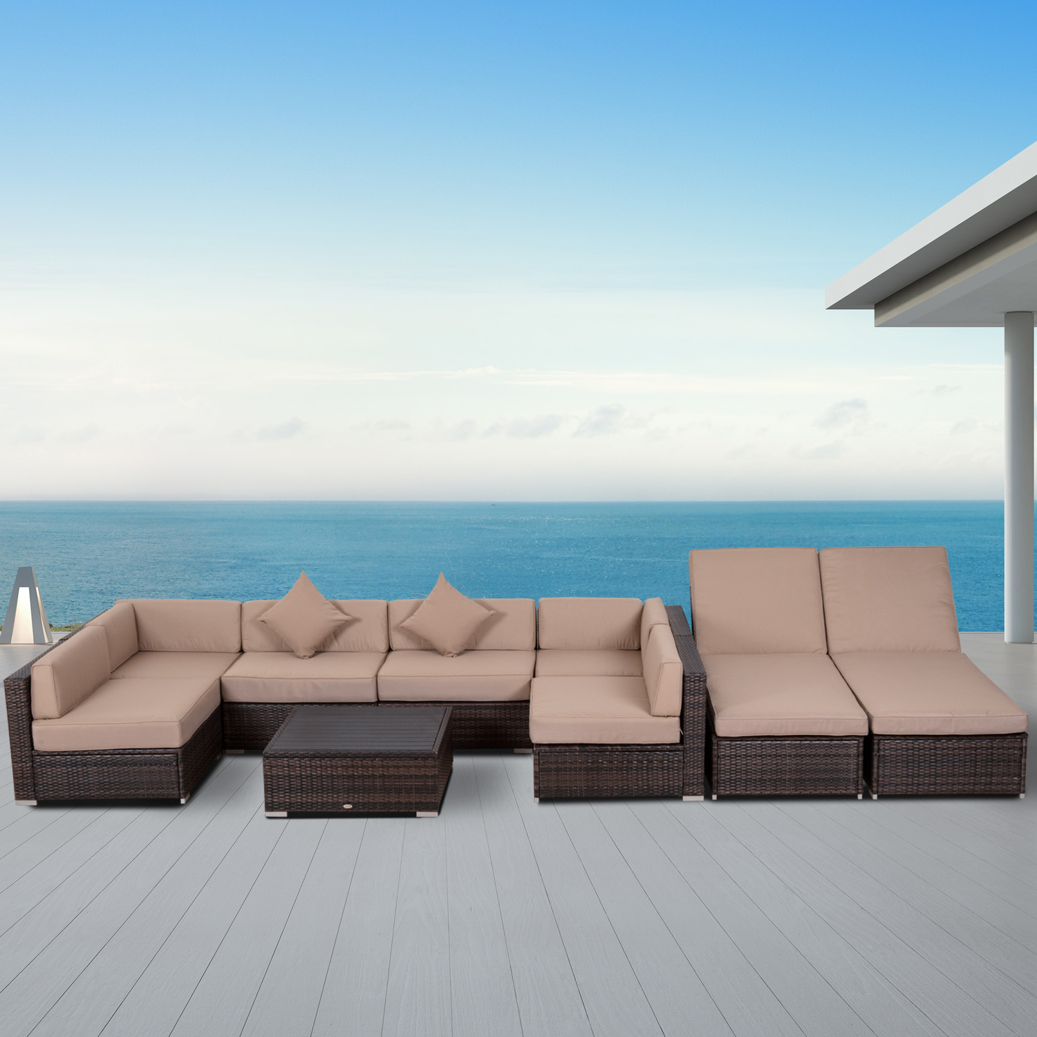 piece weather sectional hampton sets with ae wicker fabric outdoor p all sunbrella conversation patio