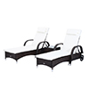 3pcs-Wheeled-Patio-Rattan-Lounge-Set-Adjustable-Reclining-Chaise-w-Side-Table thumbnail 10