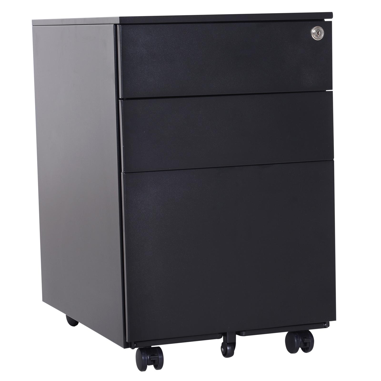 Incroyable Details About 24u201d Steel 3 Drawer Home Office Under Desk Filing Cabinet W/  Lock On Wheels