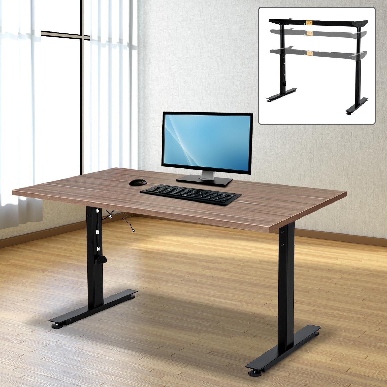 Ergonomic Electric Height Adjustable Standing Desk Converter Frame  Workstation