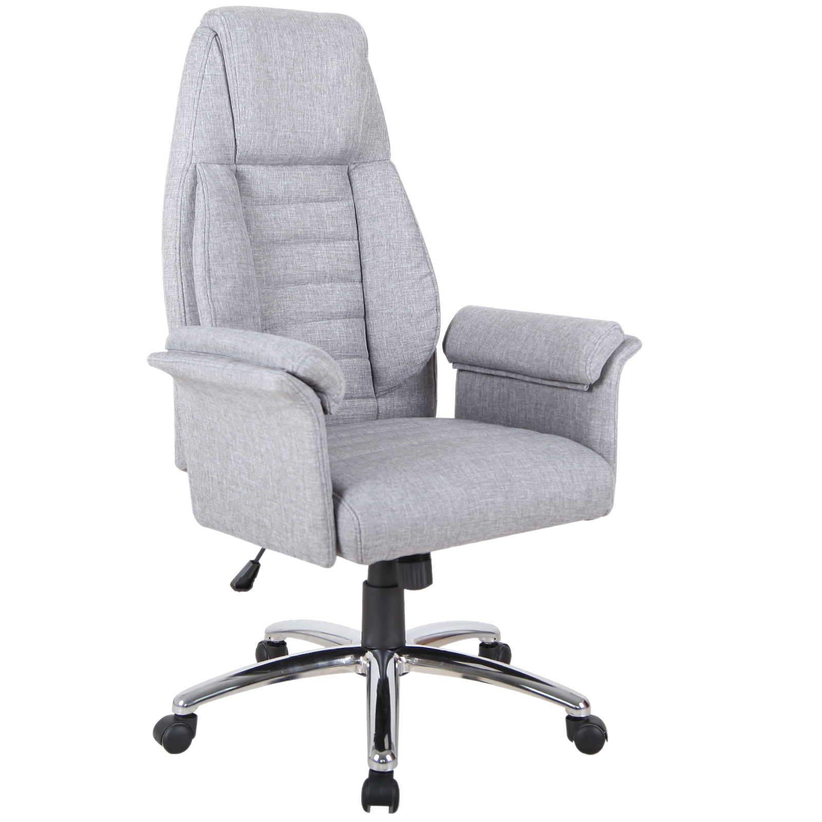 Details about HOMCOM High Back Fabric Swivel Executive Office computer  Chair - Gray