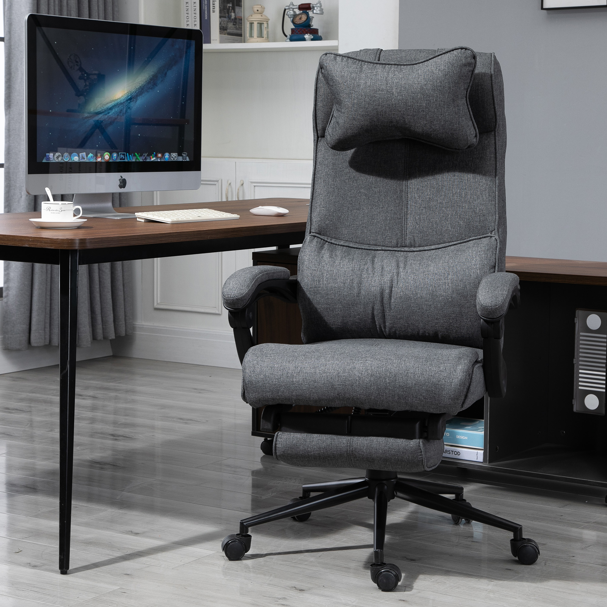 Vinsetto Reclining Home Office Chair Executive Adjustable Rolling Swivel Chair 842525119450 Ebay