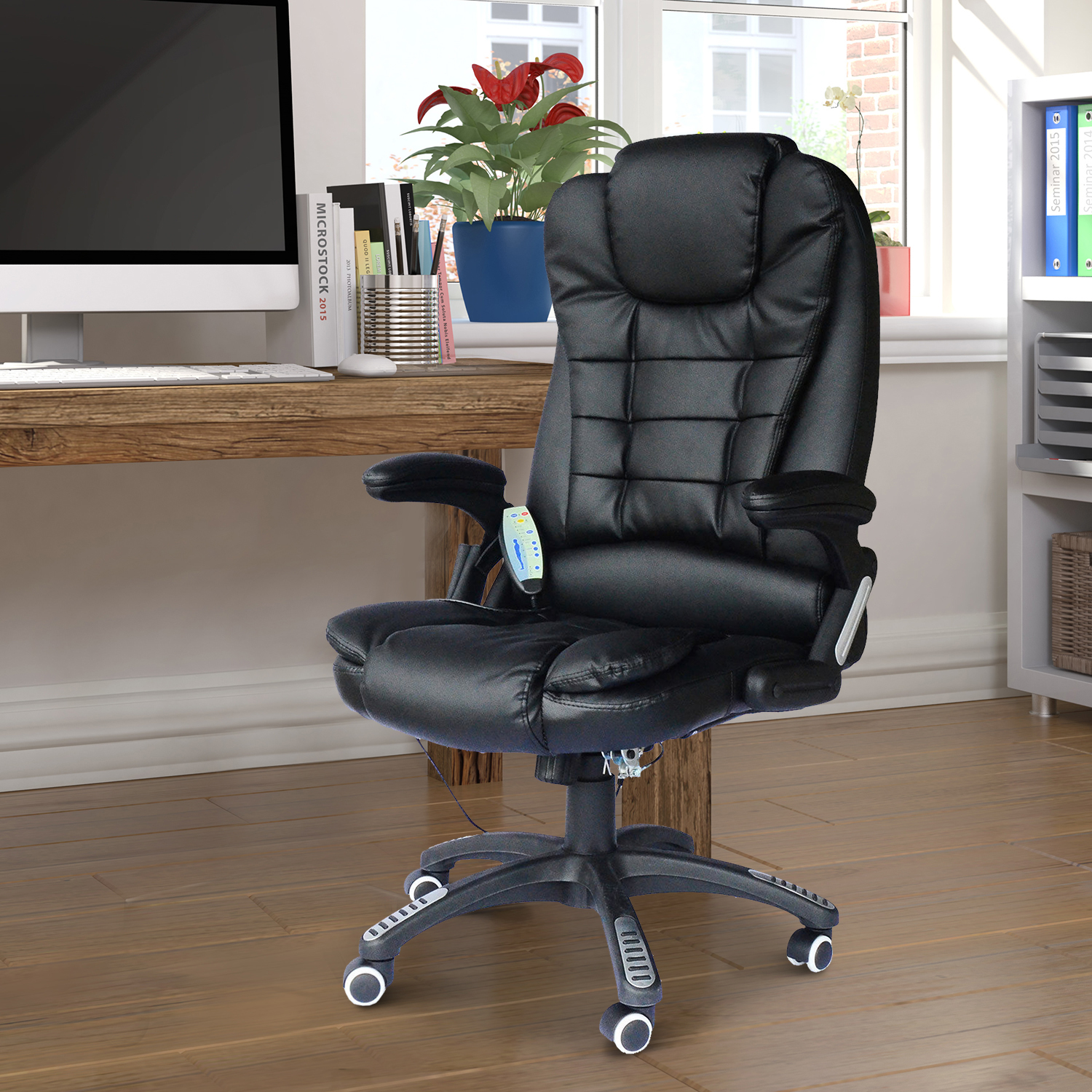 Homcom Executive Ergonomic PU Leather Heated Vibrating Mage ... on heated chair cushion, vibration chair, heated chair mat, heated outdoor chair, bathroom chair, vibrating gaming chair, heated clinical chair, china chair, heated back massager for chairs, heated chair cover, heated seat pads for chairs, heated folding chair, heated recliner chairs, heated ergonomic chair, heated bean bag chair, heated desk chair pad, heated massage chair, person on a vibrating chair, heated camp chair, heated lounge chair,