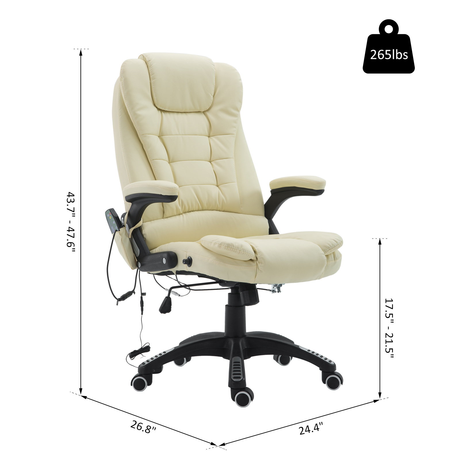 Home Office Computer Desk Massage Chair Executive Ergonomic Heated Vibrating Ebay