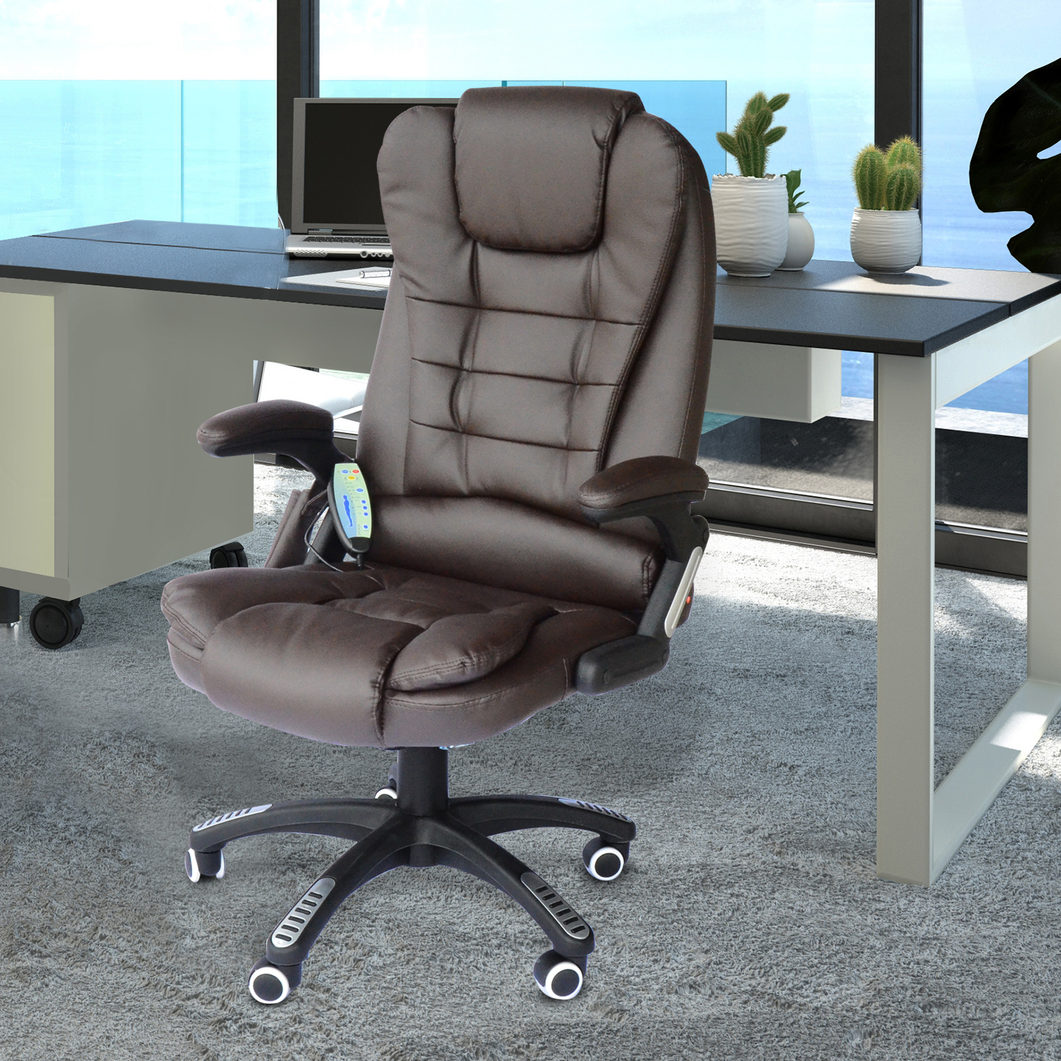 Homcom Executive Ergonomic Heated Vibrating Mage Office Chair ... on heated chair cushion, vibration chair, heated chair mat, heated outdoor chair, bathroom chair, vibrating gaming chair, heated clinical chair, china chair, heated back massager for chairs, heated chair cover, heated seat pads for chairs, heated folding chair, heated recliner chairs, heated ergonomic chair, heated bean bag chair, heated desk chair pad, heated massage chair, person on a vibrating chair, heated camp chair, heated lounge chair,
