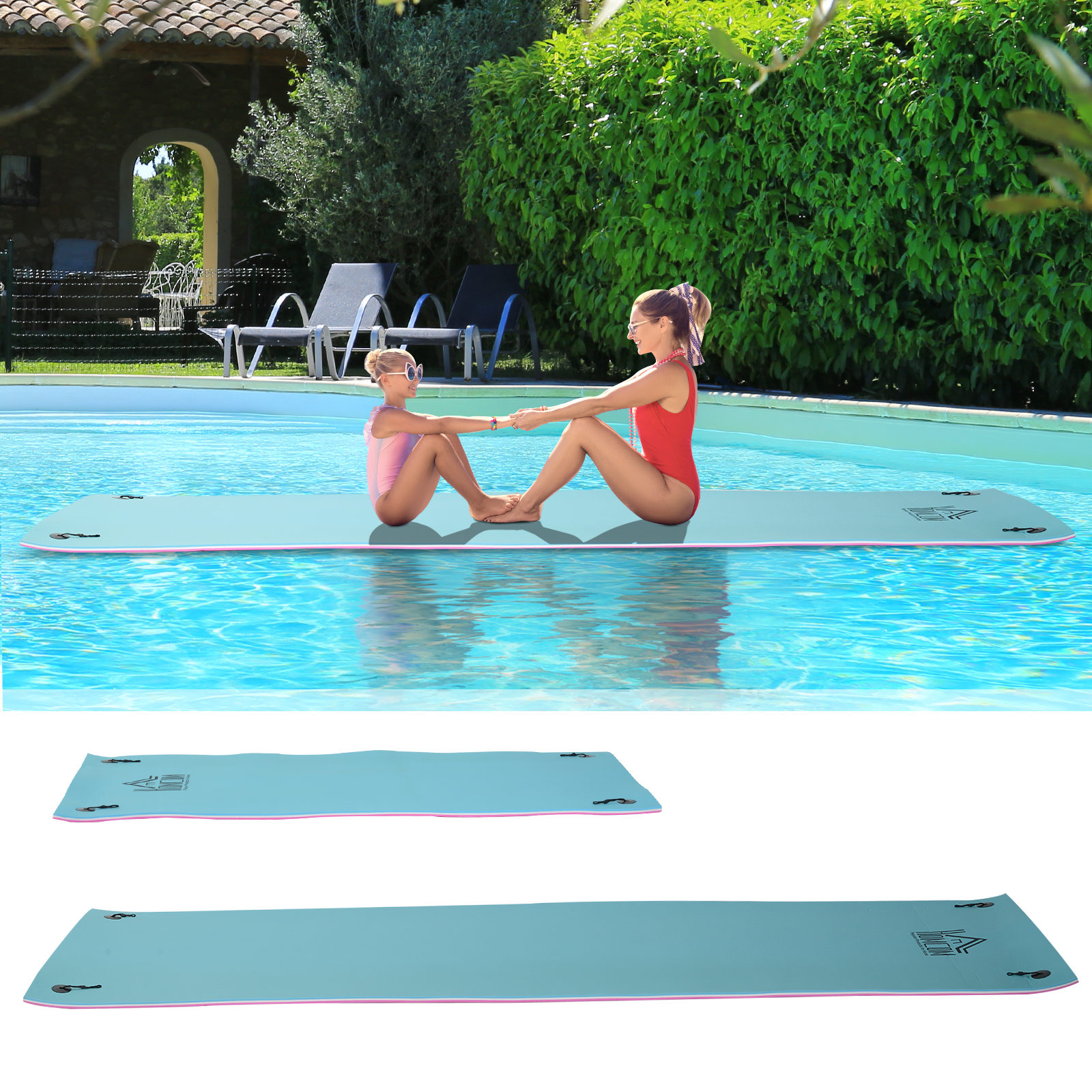 Details about 10'/16.5\' x 5' Floating Foam Play Mat Lounger Mattress Pool  Party Lake River