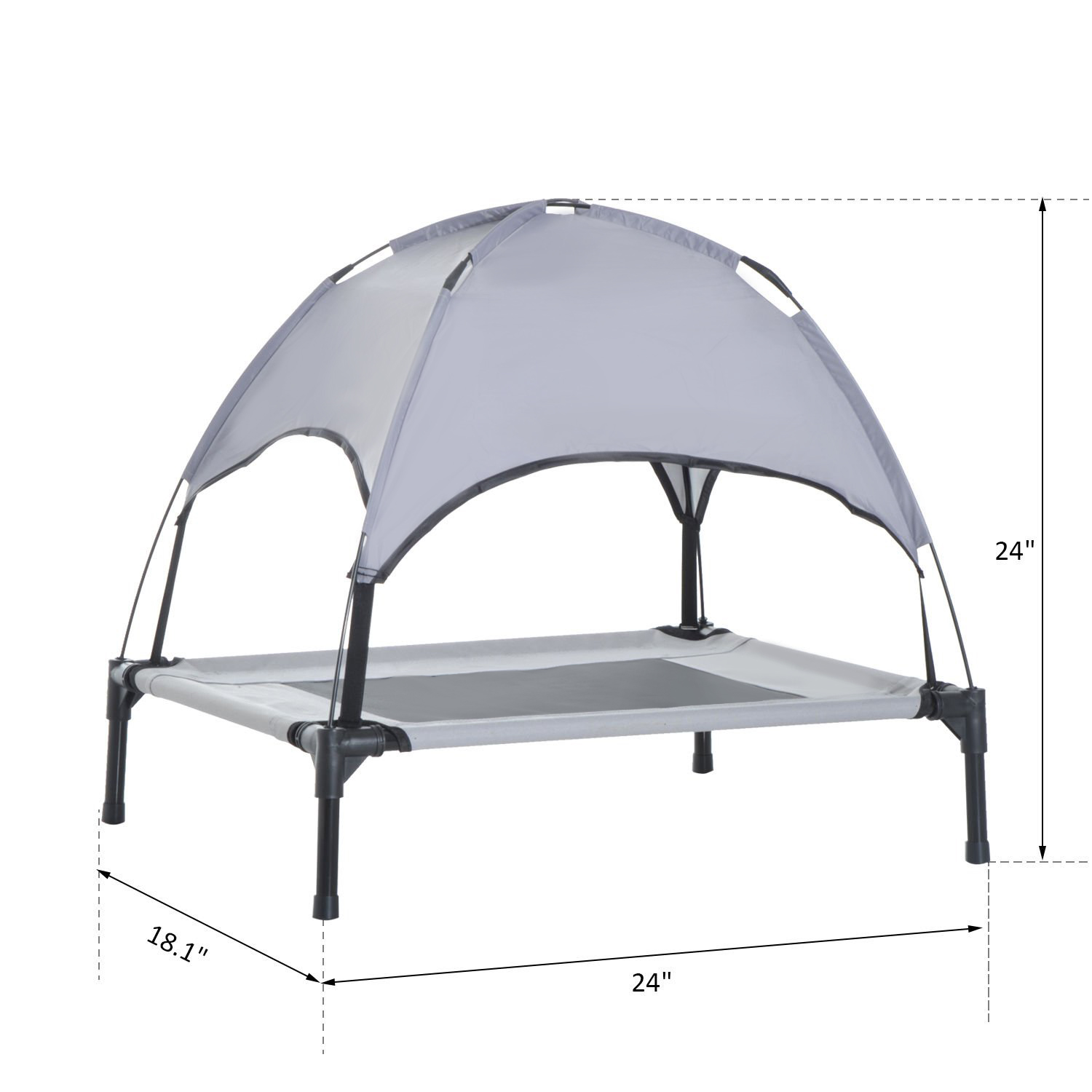 PawHut-Elevated-Pet-Bed-Dog-Foldable-Cot-Tent-Canopy-Instant-Shelter-Outdoor thumbnail 3