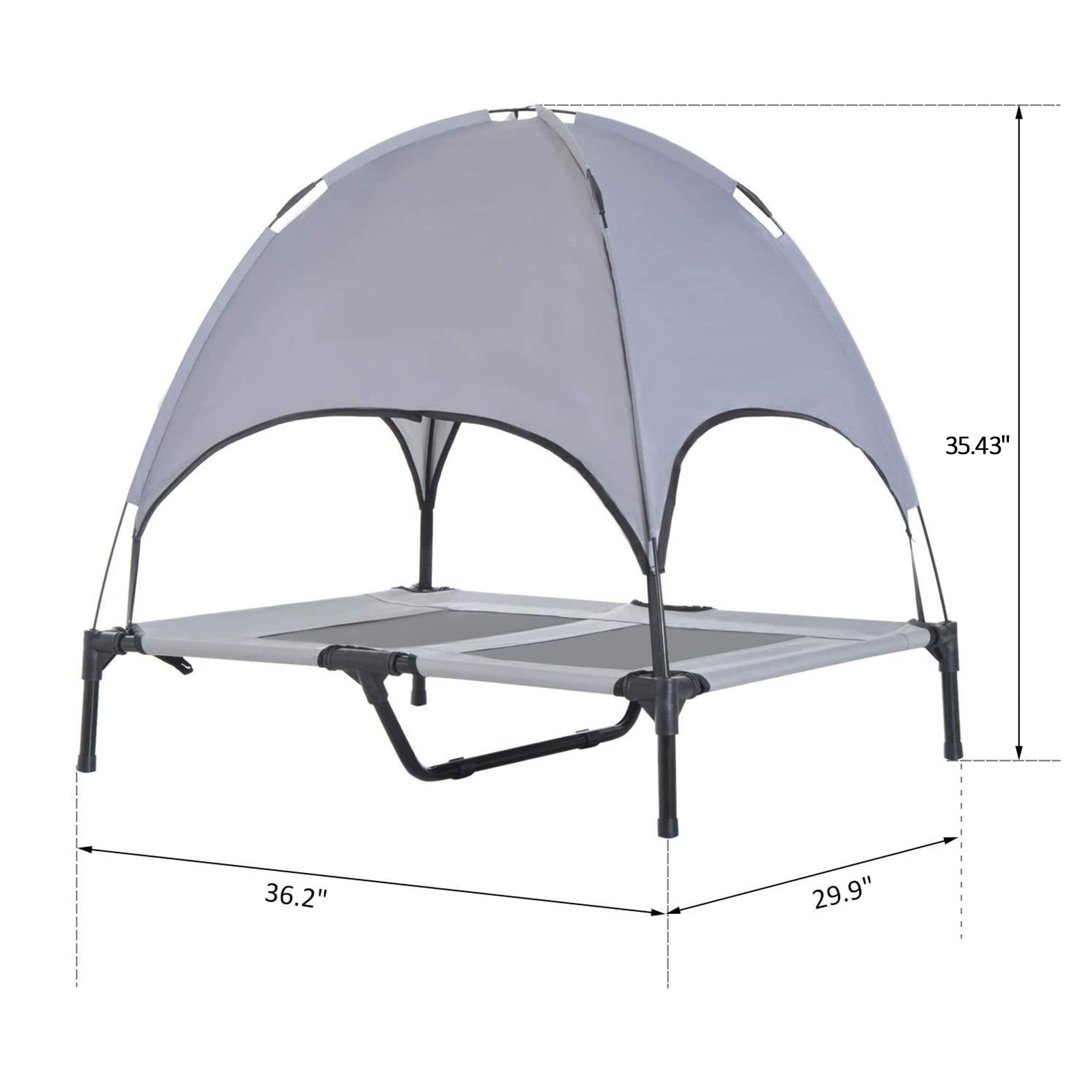 PawHut-Elevated-Pet-Bed-Dog-Foldable-Cot-Tent-Canopy-Instant-Shelter-Outdoor thumbnail 14