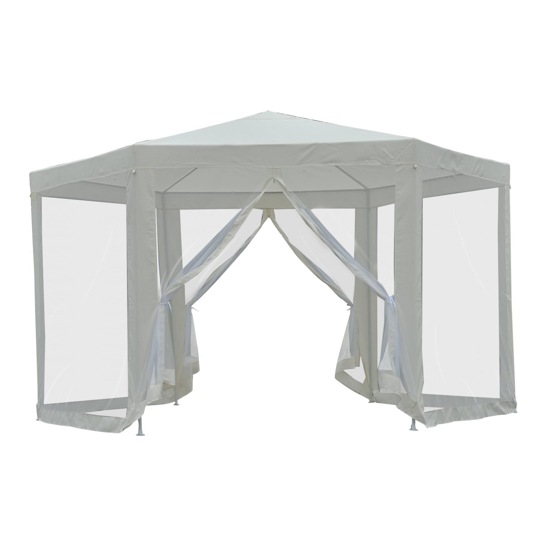 Hexagonal-Patio-Gazebo-Outdoor-Canopy-Party-Tent-Activity-Event-w-Mosquito-Net thumbnail 4