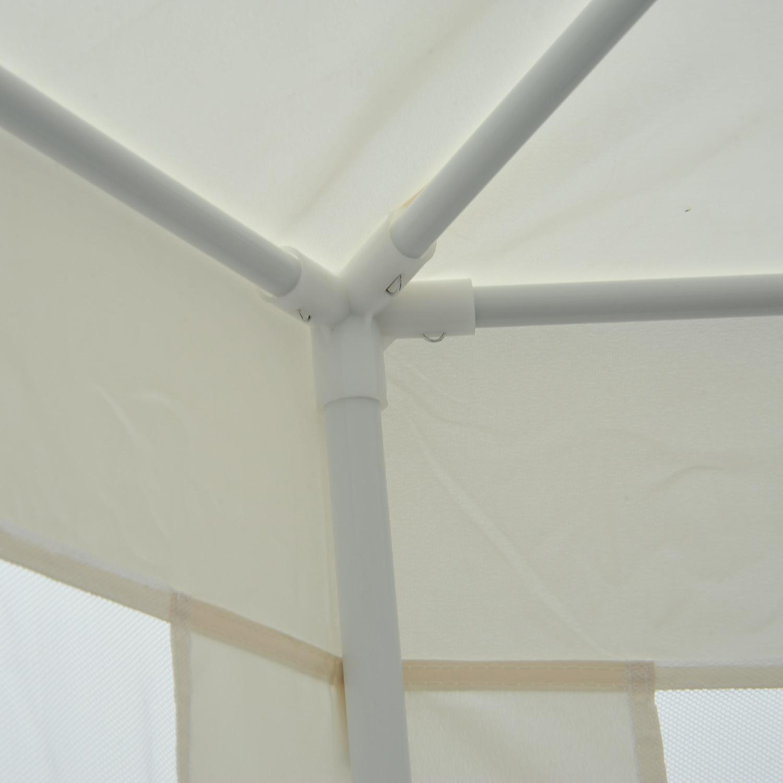 Hexagonal-Patio-Gazebo-Outdoor-Canopy-Party-Tent-Activity-Event-w-Mosquito-Net thumbnail 9
