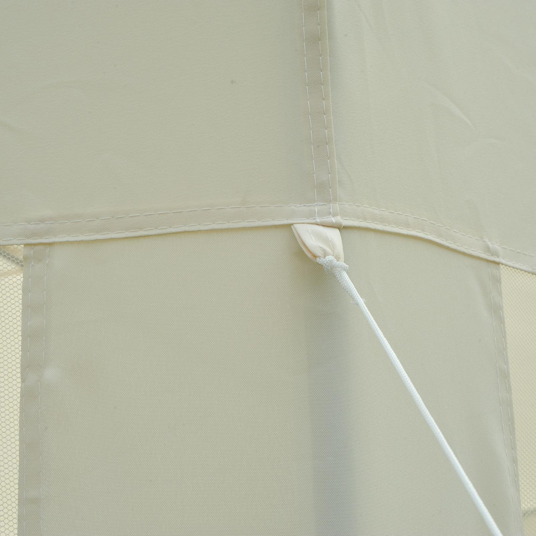 Hexagonal-Patio-Gazebo-Outdoor-Canopy-Party-Tent-Activity-Event-w-Mosquito-Net thumbnail 11