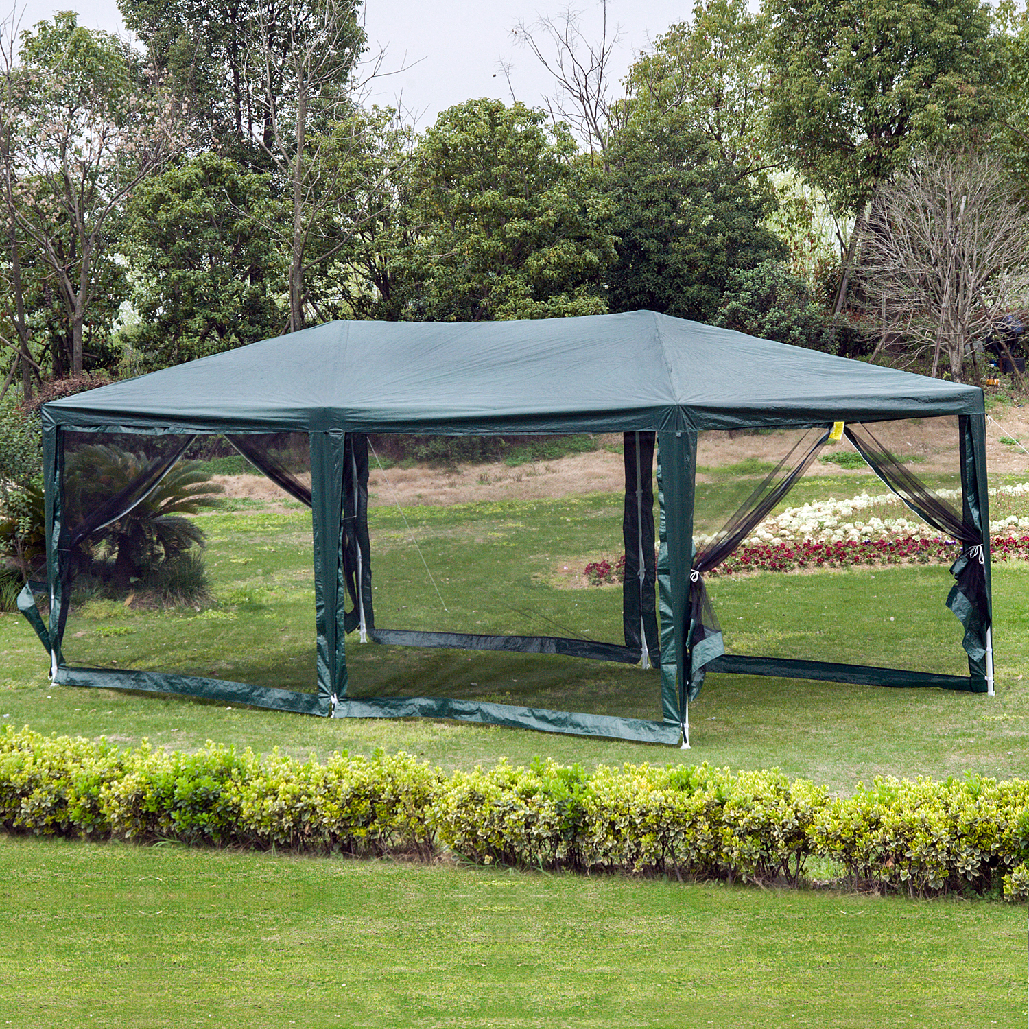 10-039-x-20-039-Gazebo-Canopy-Cover-Tent-Patio-Party-w-Removable-Mesh-Side-Walls thumbnail 5