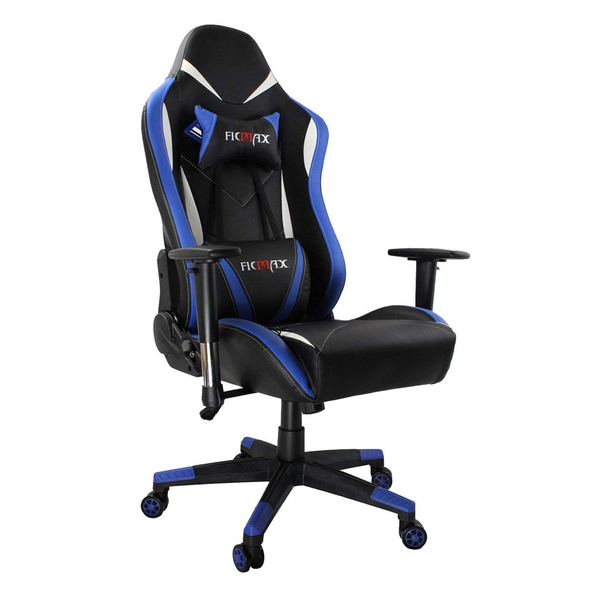 Details About Ergonomic Racing Gaming Chair High Back Computer Seat Swivel  Massage Lumbar