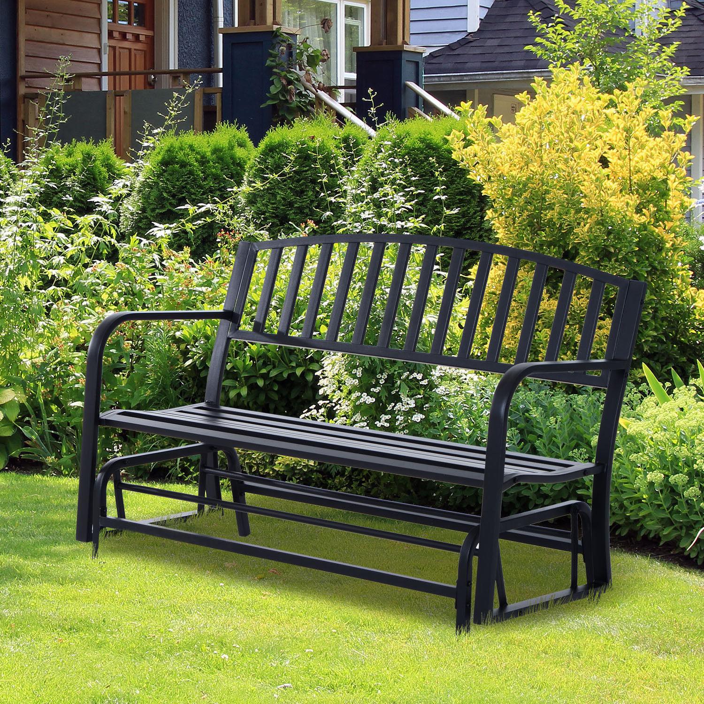 Cool Details About Patio Garden Glider 2 Person Outdoor Porch Bench Rocking Chair Yard Furniture Creativecarmelina Interior Chair Design Creativecarmelinacom