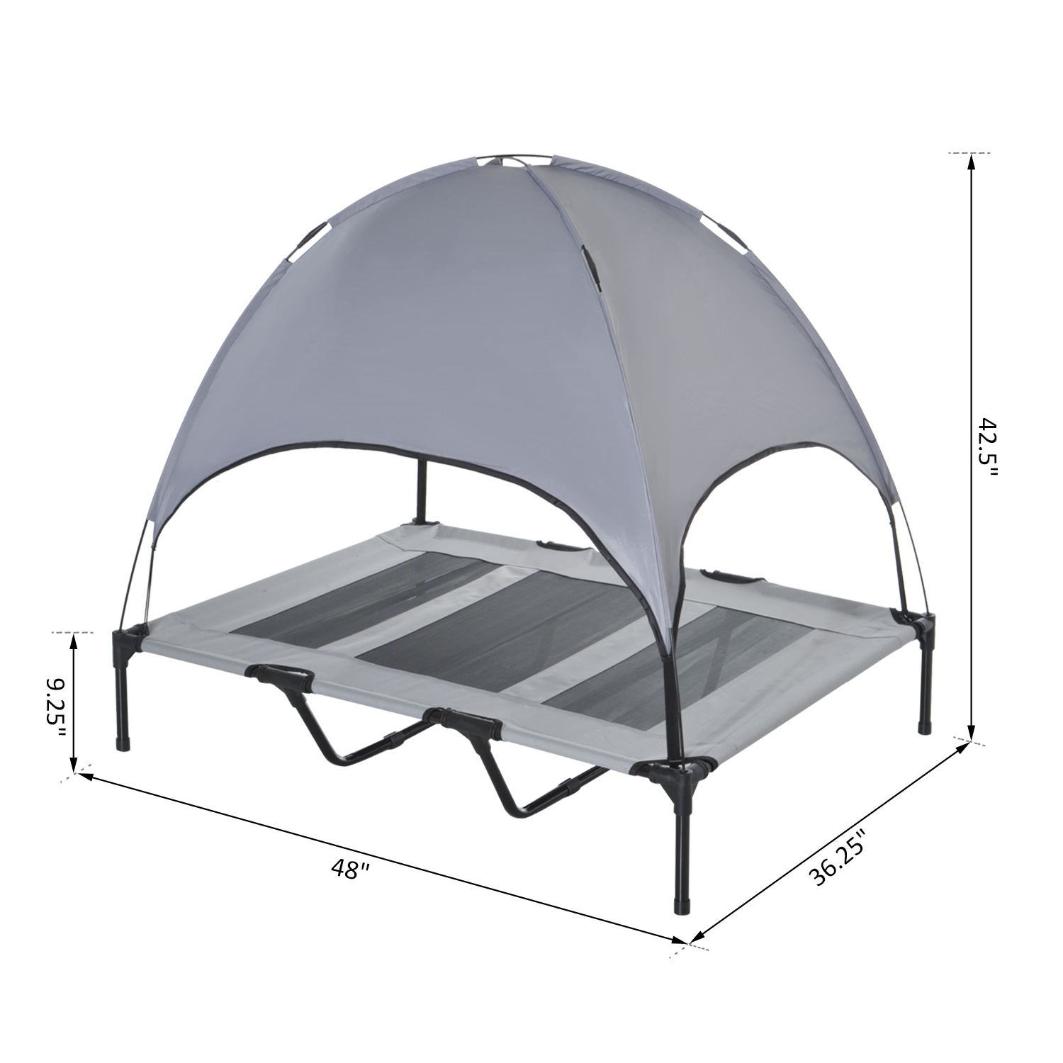 PawHut-Elevated-Pet-Bed-Dog-Foldable-Cot-Tent-Canopy-Instant-Shelter-Outdoor thumbnail 20